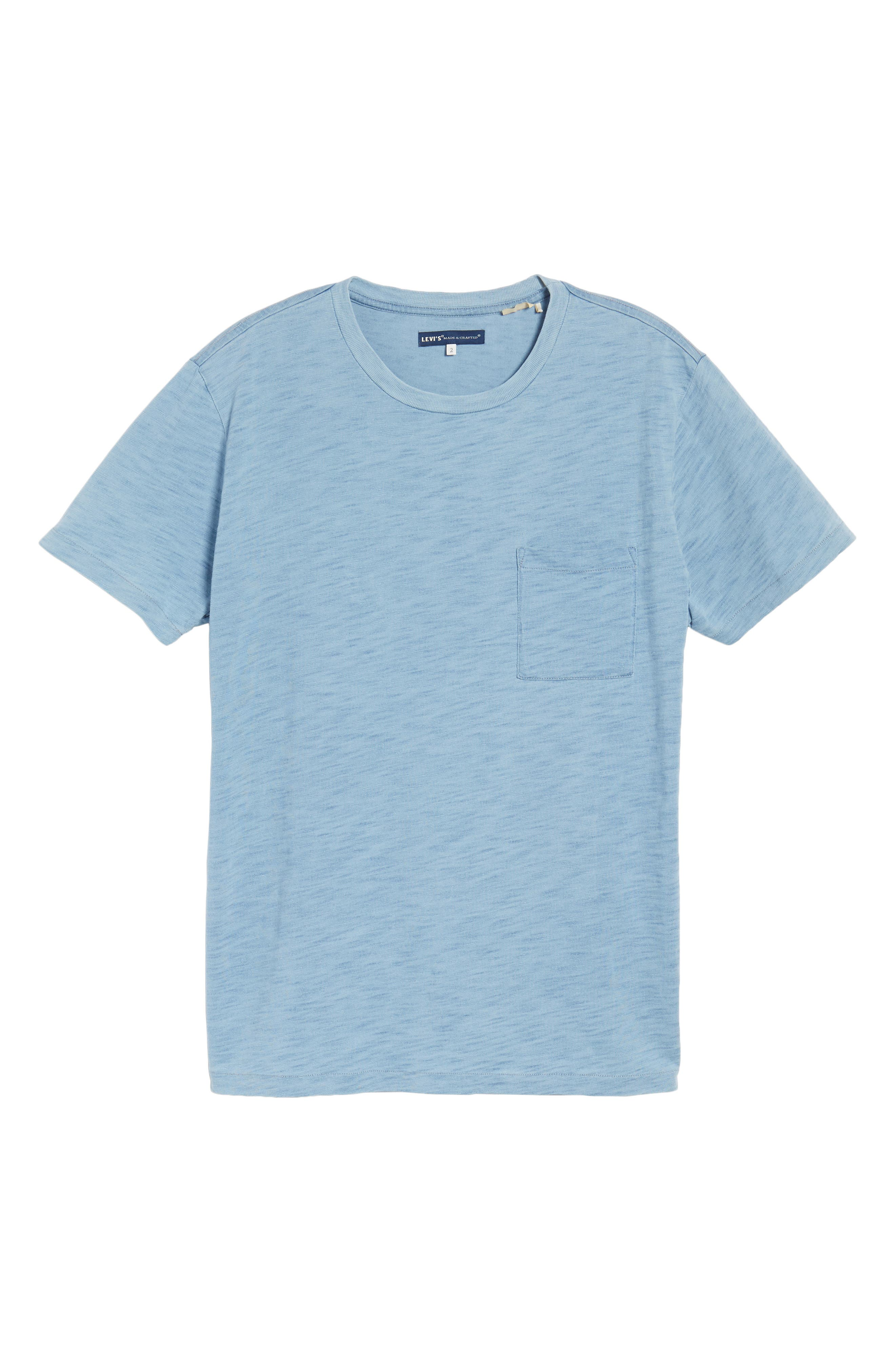 Pocket T-Shirt,                             Alternate thumbnail 6, color,                             Washed Indigo