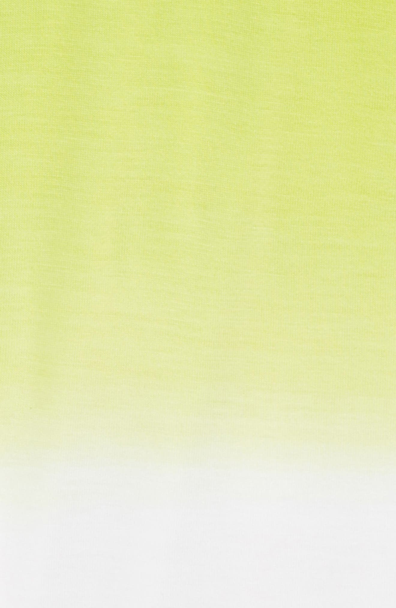 Dip Dye Cold Shoulder Tee,                             Alternate thumbnail 2, color,                             Green Sulphur- White Ombre