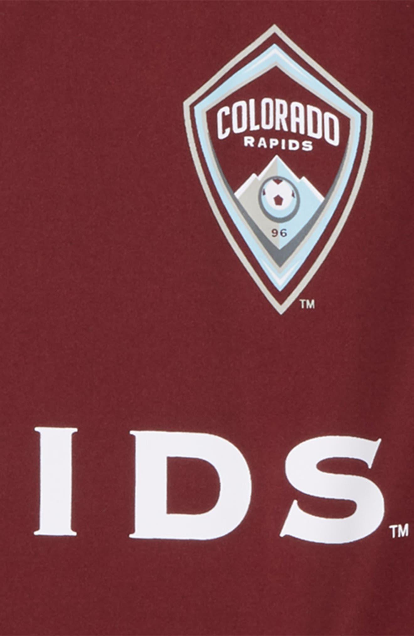 MLS Colorado Rapids Primary Logo Graphic T-Shirt,                             Alternate thumbnail 2, color,                             Dark Burgundy