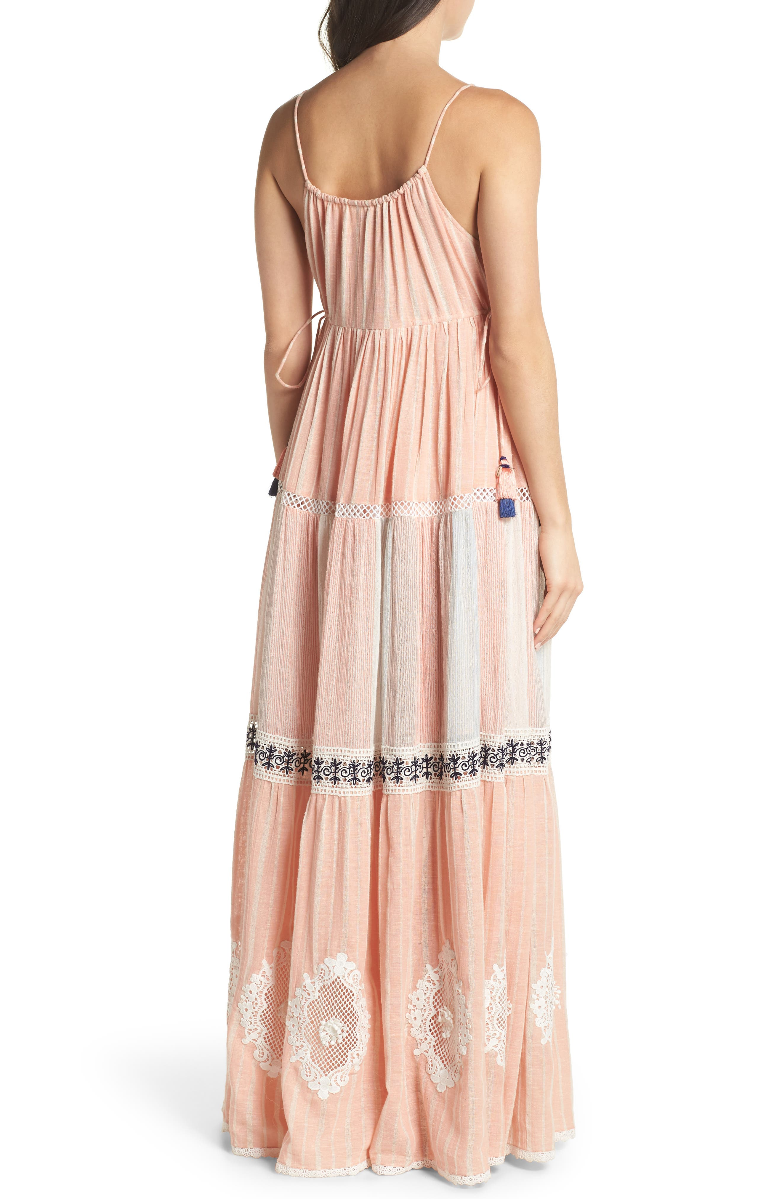 Hemant & Nandita Cover-Up Maxi Dress,                             Alternate thumbnail 2, color,                             Peach