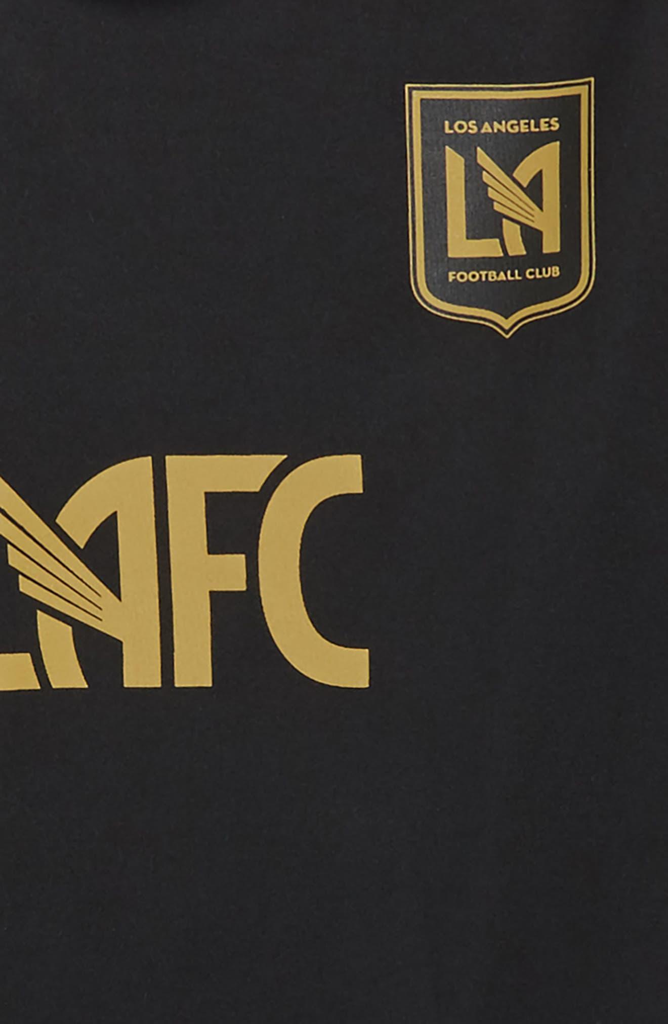Alternate Image 2  - adidas MLS Los Angeles FC Primary Logo Graphic T-Shirt (Big Boys)