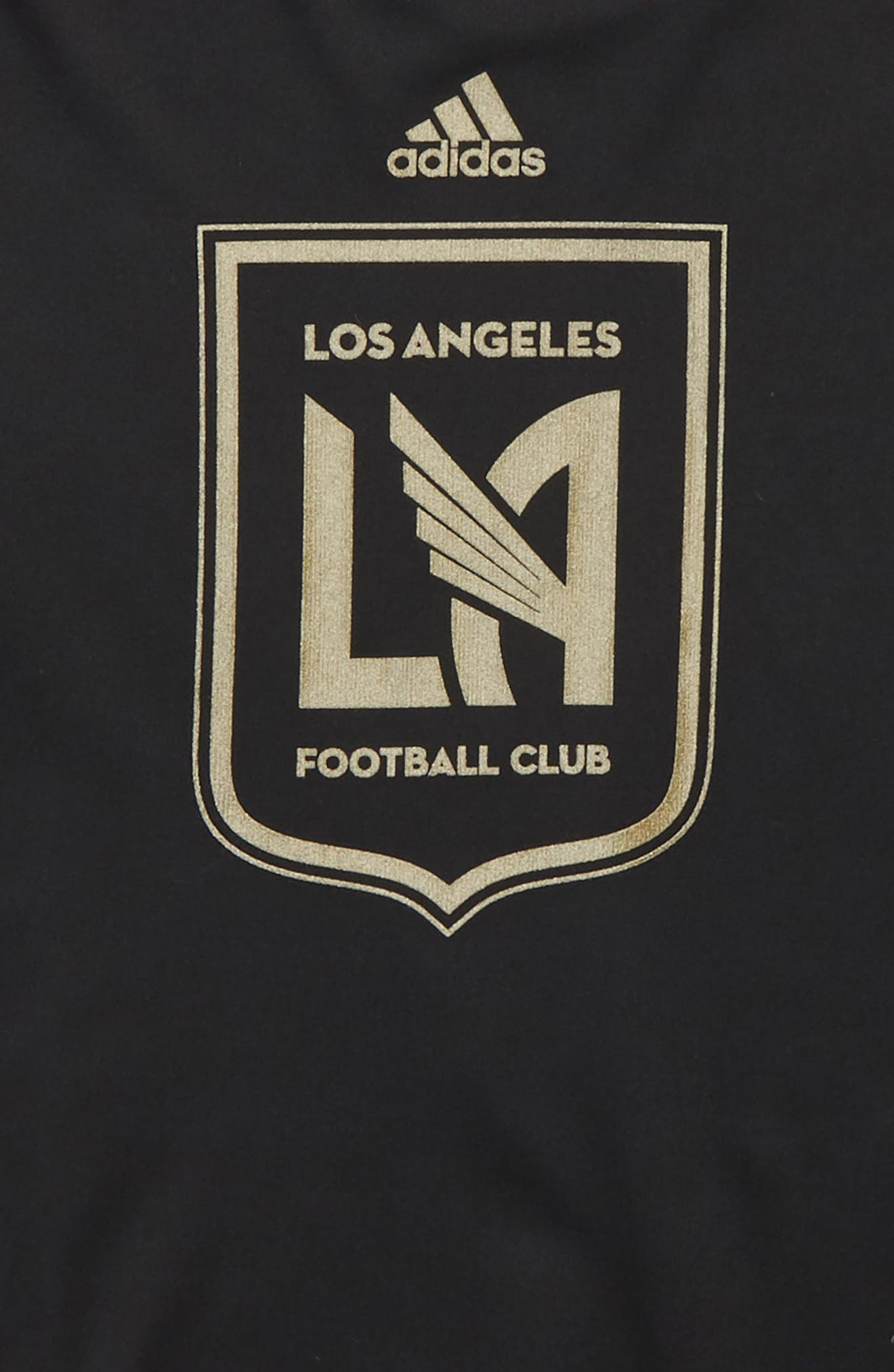 MLS Los Angeles FC Climalite<sup>®</sup> T-Shirt,                             Alternate thumbnail 2, color,                             Black