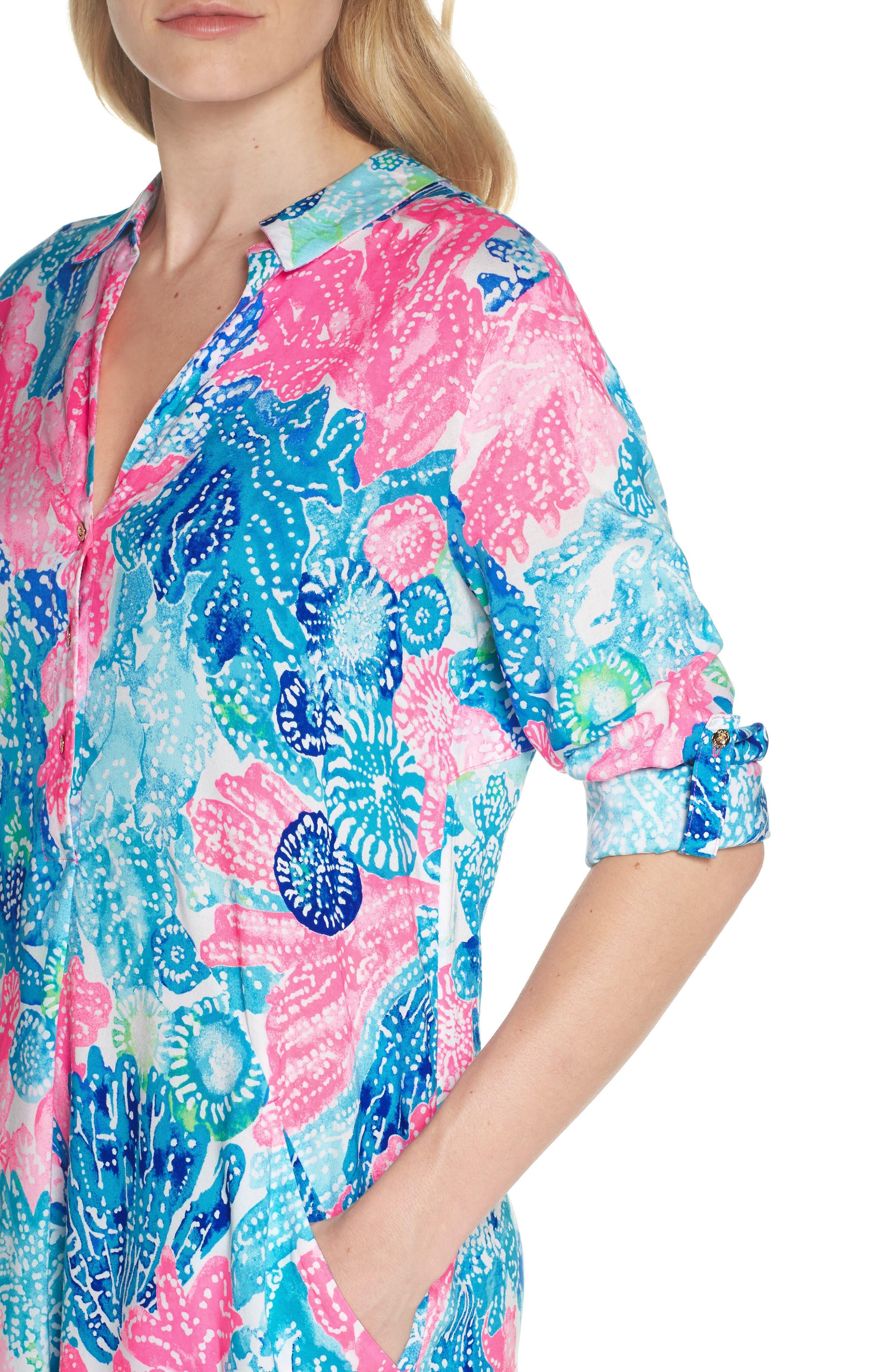 Lillith Shirtdress,                             Alternate thumbnail 4, color,                             Multi Boho Batik