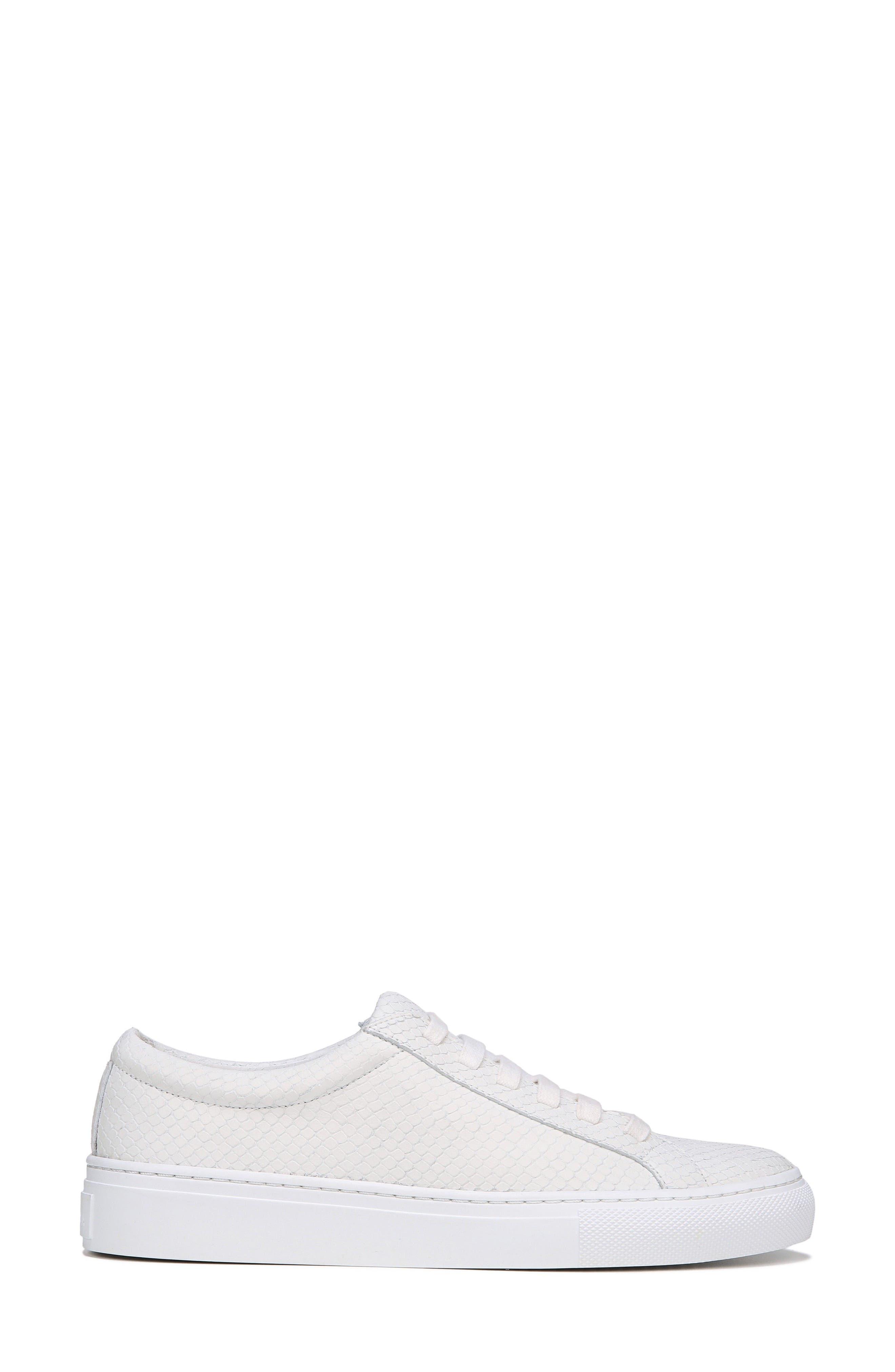 SUIV2 Snake Embossed Sneaker,                             Alternate thumbnail 3, color,                             Porcelain Leather
