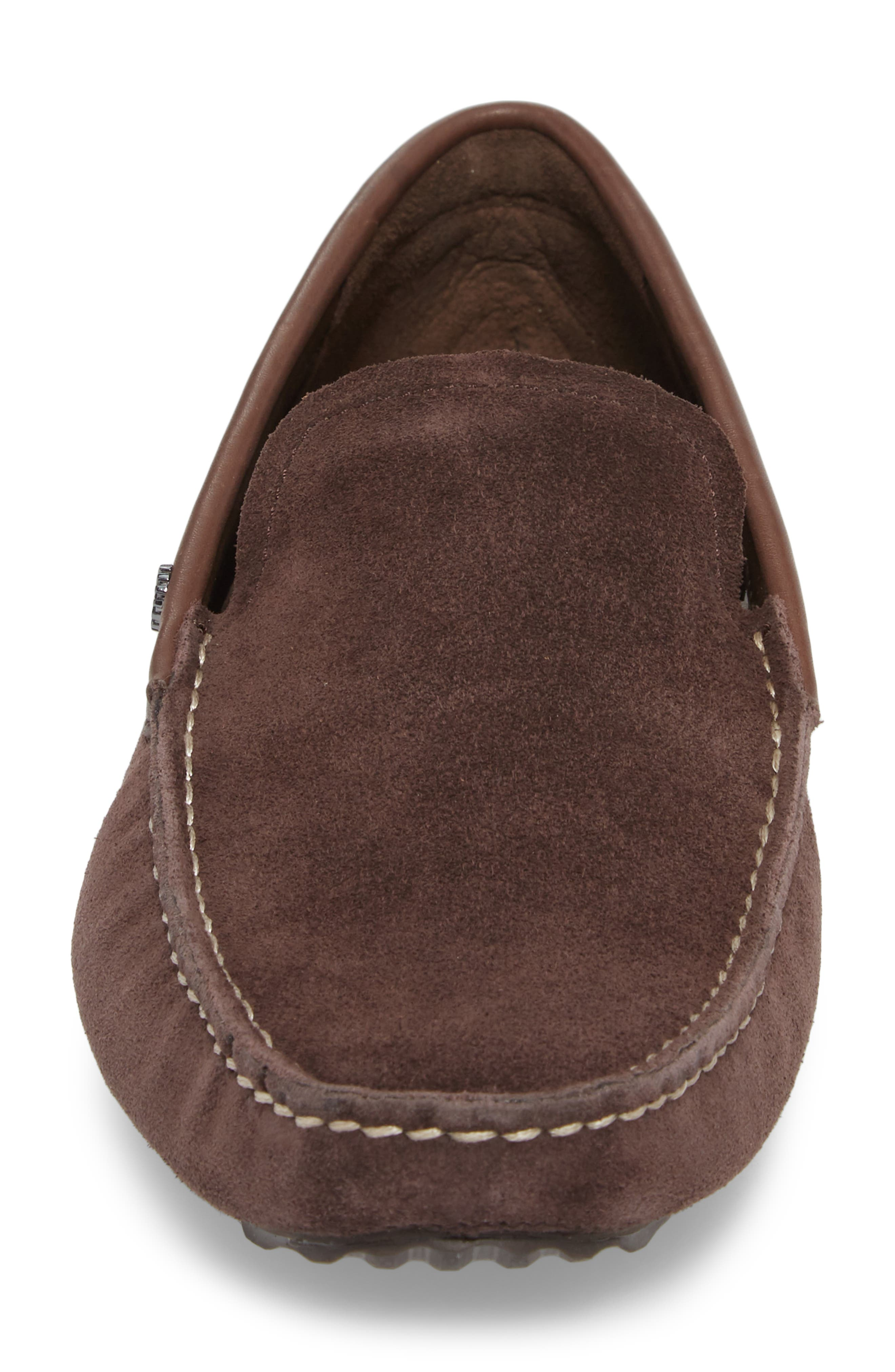 Bel-Air Driving Moccasin,                             Alternate thumbnail 4, color,                             Stout Leather