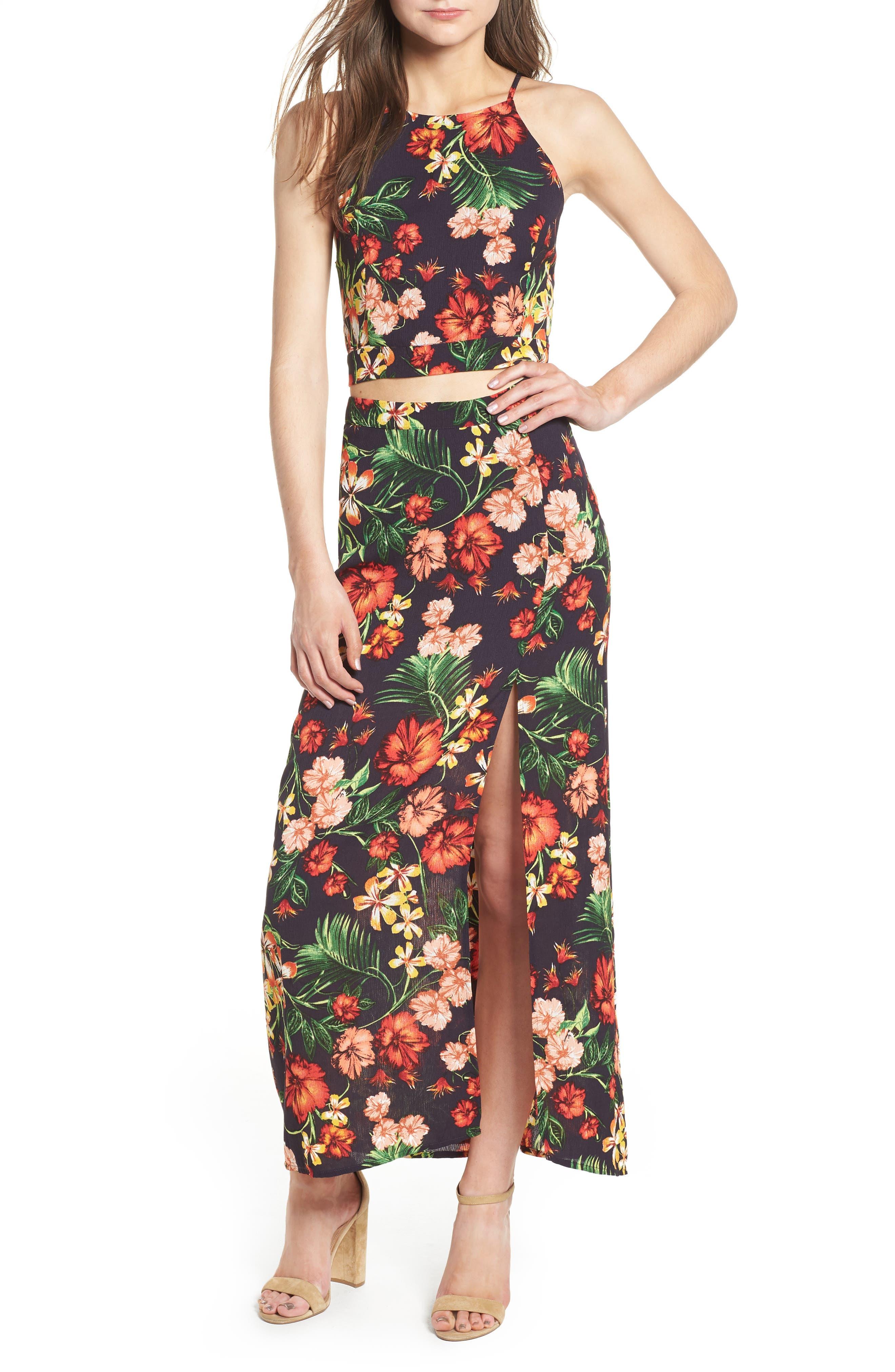 Alternate Image 2  - Floral Maxi Skirt