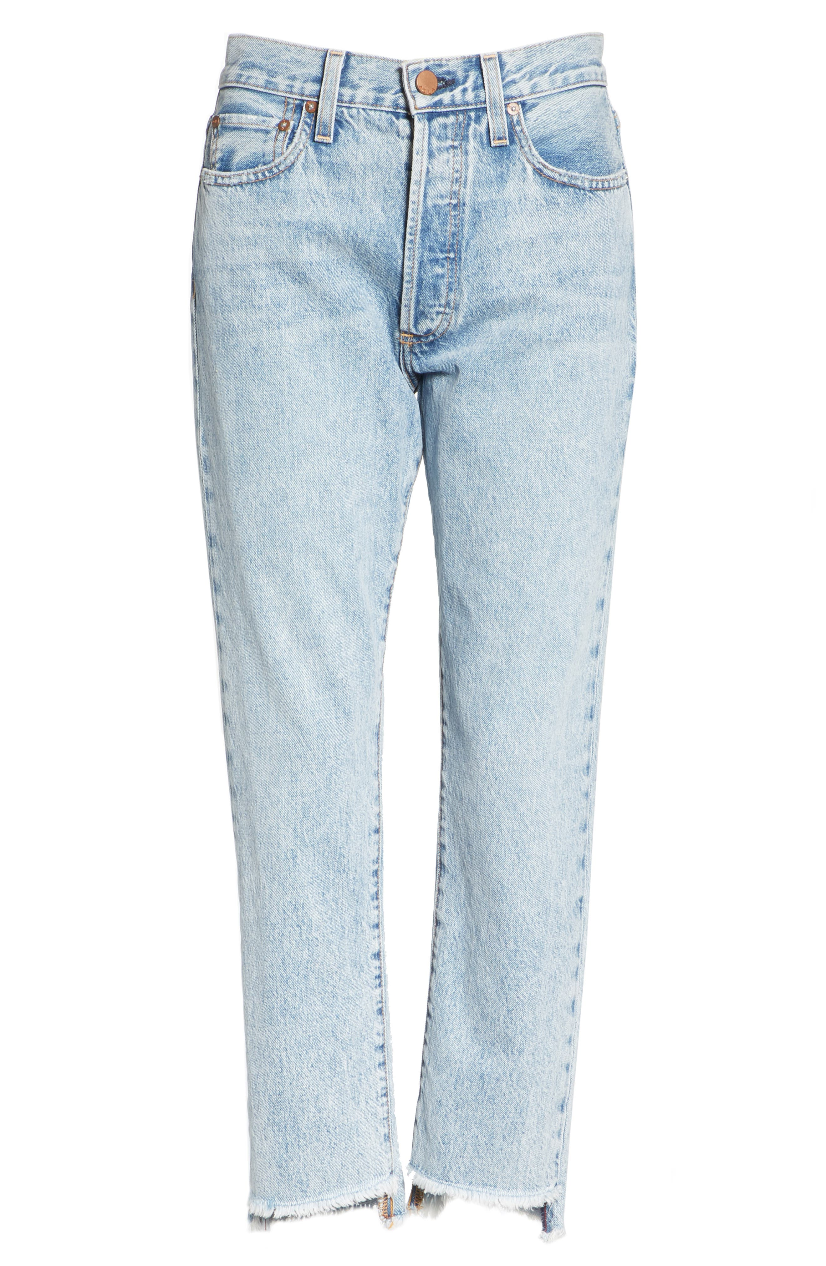 AO.LA Amazing Good Luck Slim Girlfriend Jeans,                             Alternate thumbnail 6, color,                             Out Of Sight/ Gold