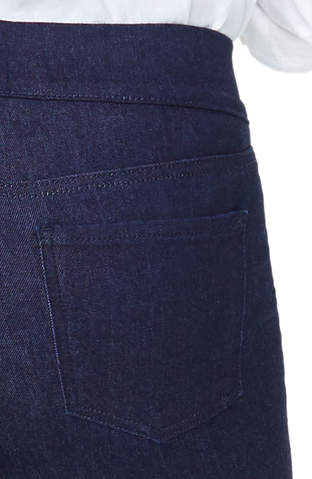 Pull-On Stretch Skinny Capri Jeans,                             Alternate thumbnail 5, color,                             Rinse