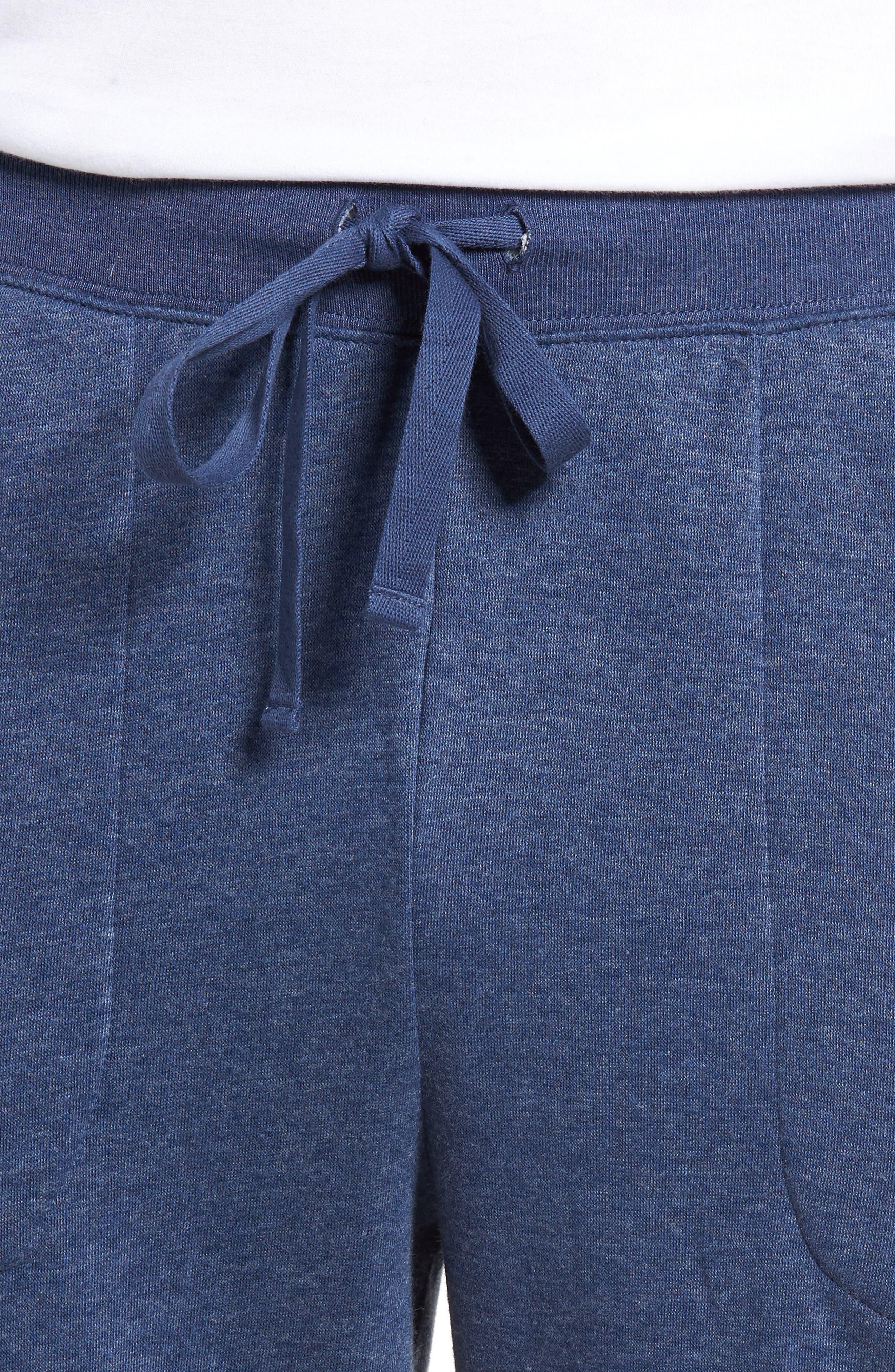 Brushed Jersey Cotton Blend Jogger Pants,                             Alternate thumbnail 4, color,                             Blue