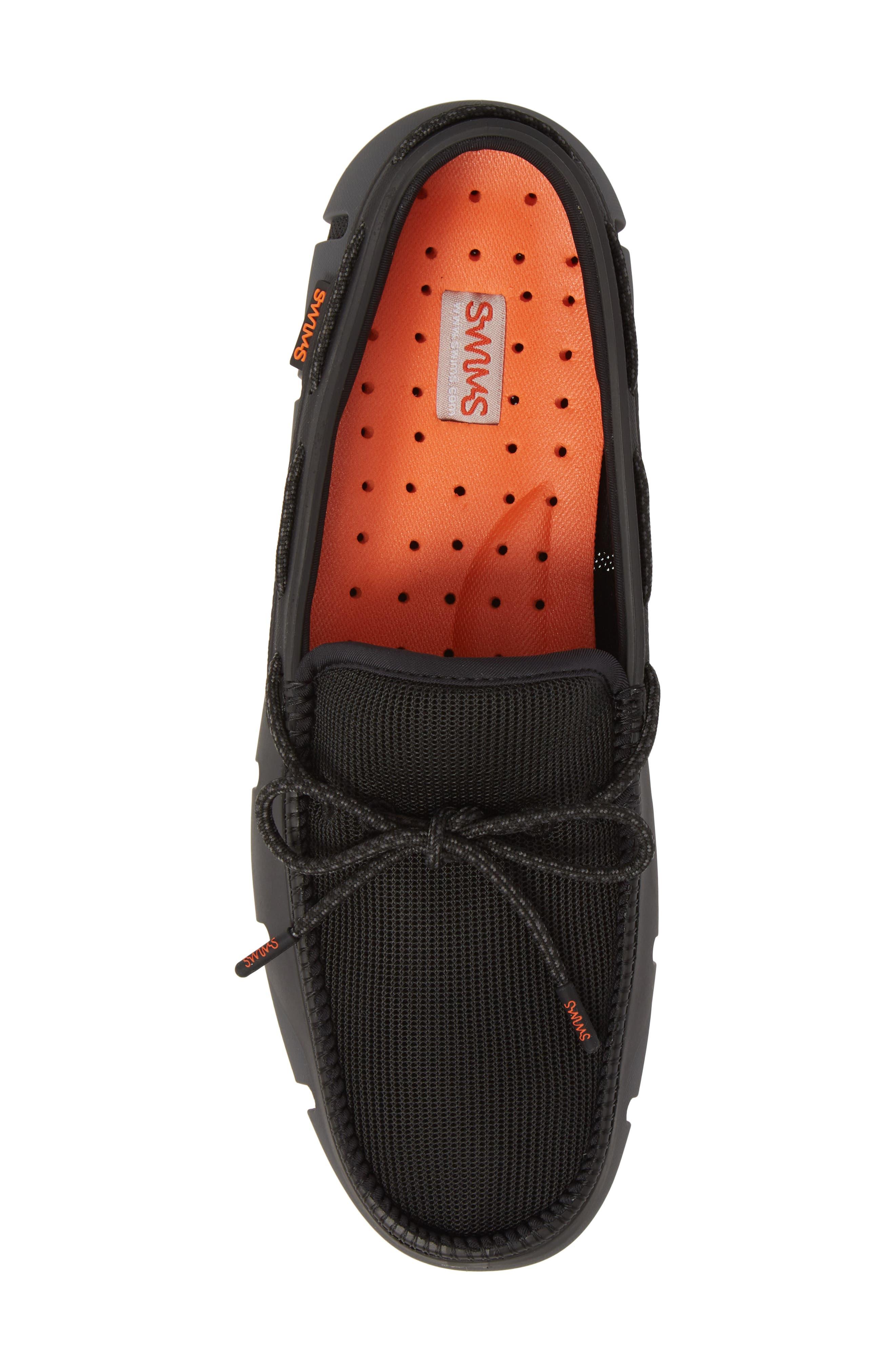 Stride Lace Loafer,                             Alternate thumbnail 5, color,                             Black / Graphite Fleck
