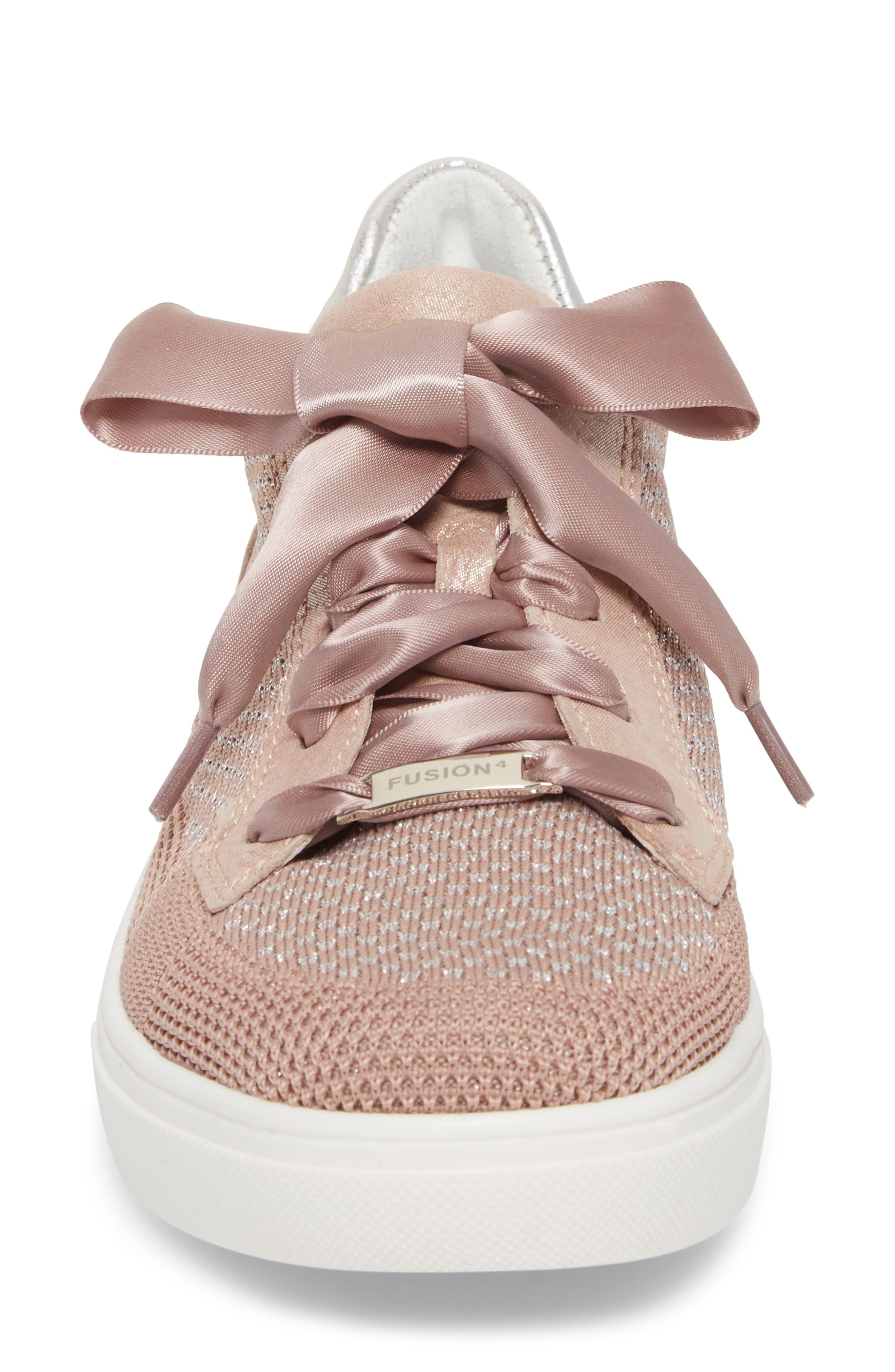 Natalya Sneaker,                             Alternate thumbnail 4, color,                             Powder Fabric