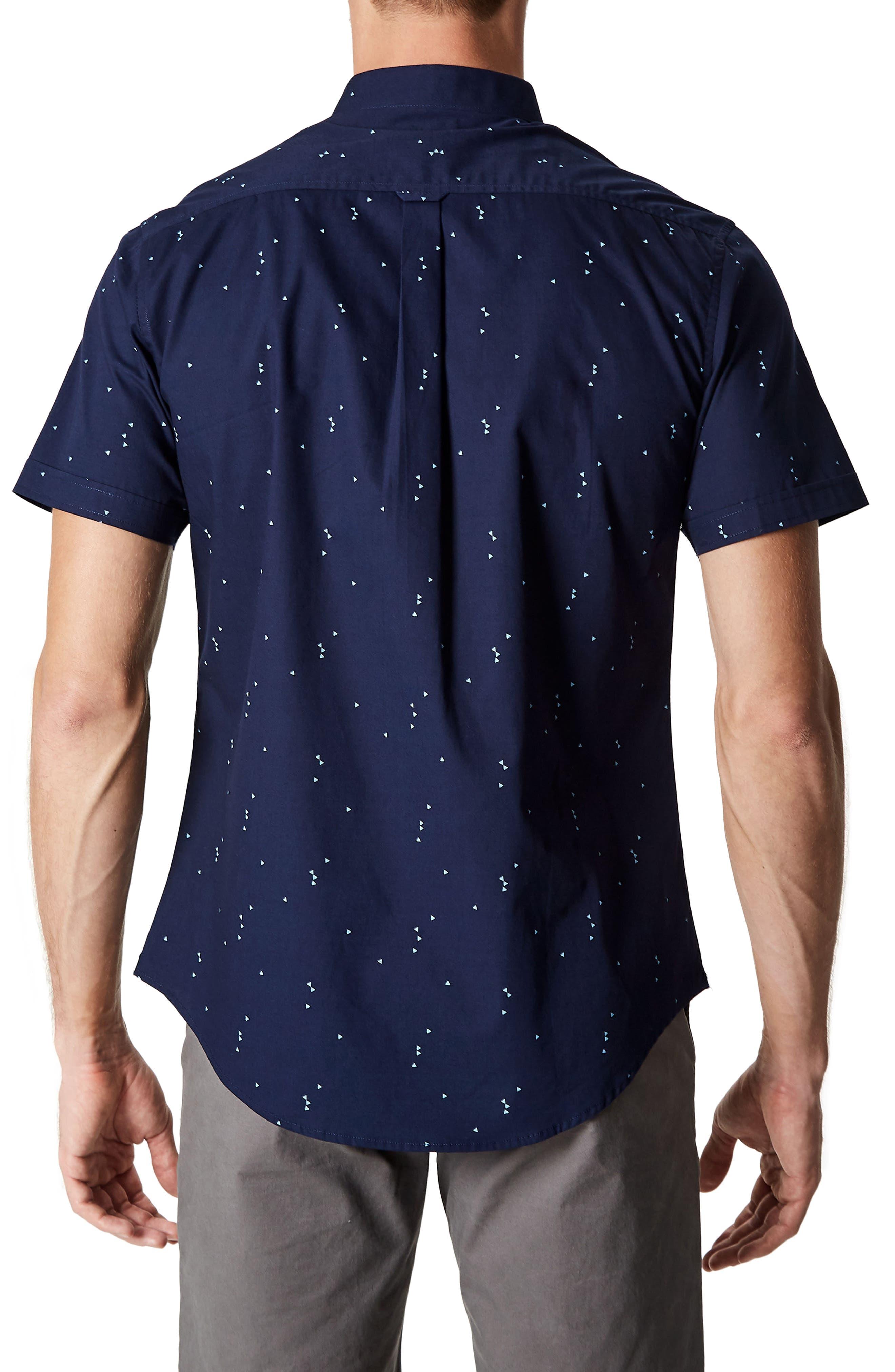 Rubicon Artist Stretch Sport Shirt,                             Alternate thumbnail 3, color,                             Nav
