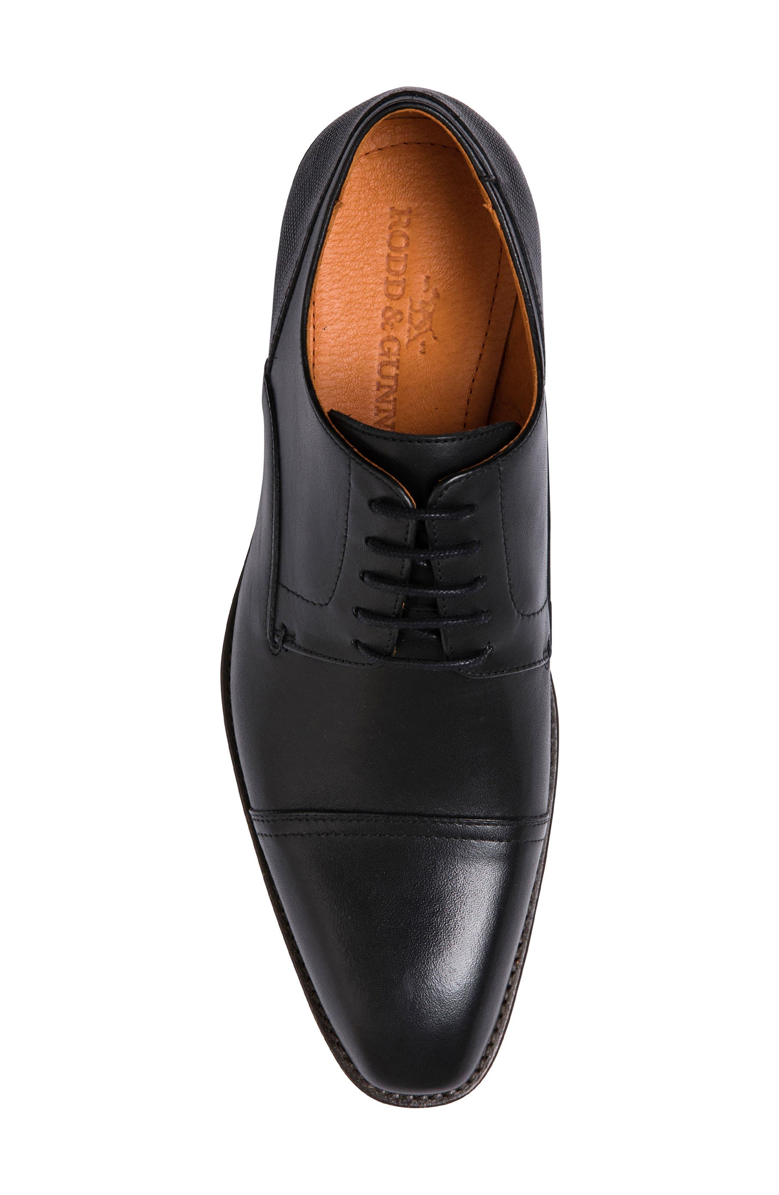 Franklin Cap Toe Derby,                             Alternate thumbnail 5, color,                             Nero Leather