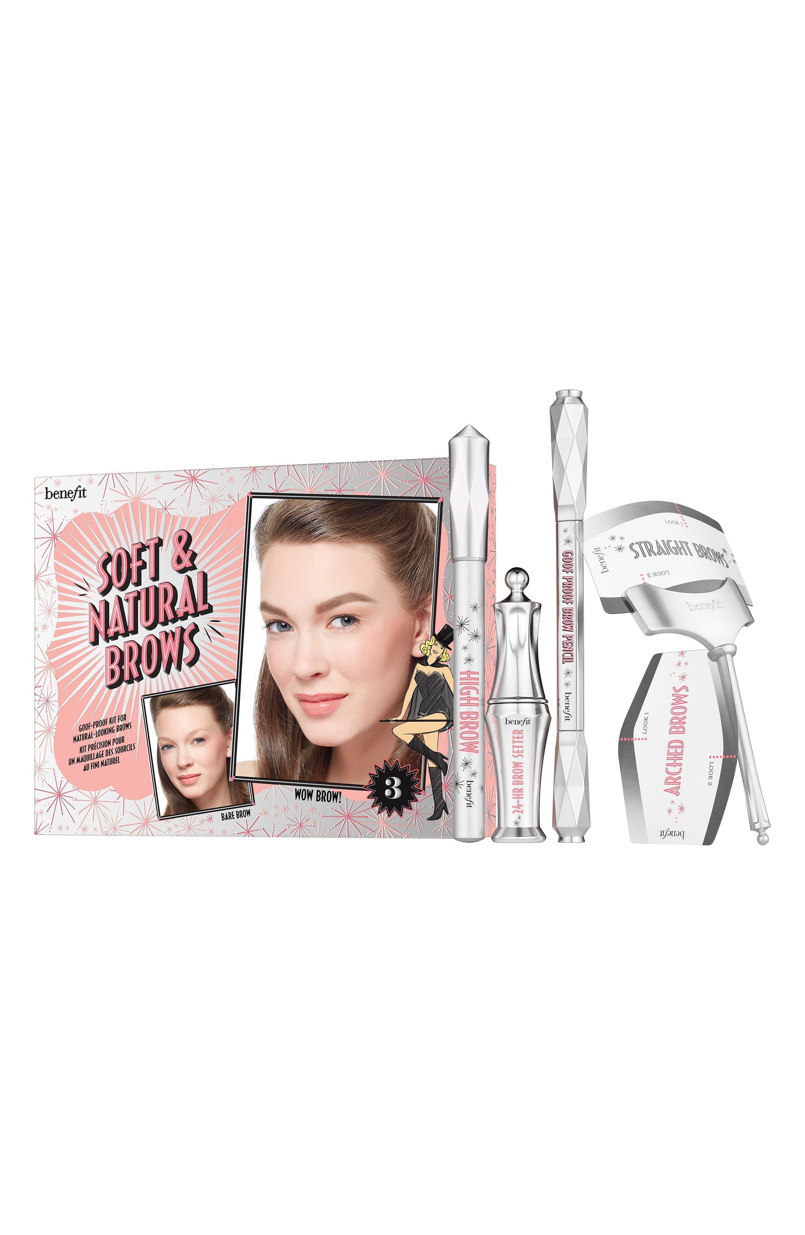 Benefit Soft & Natural Brows Kit,                             Main thumbnail 1, color,                             03 Medium