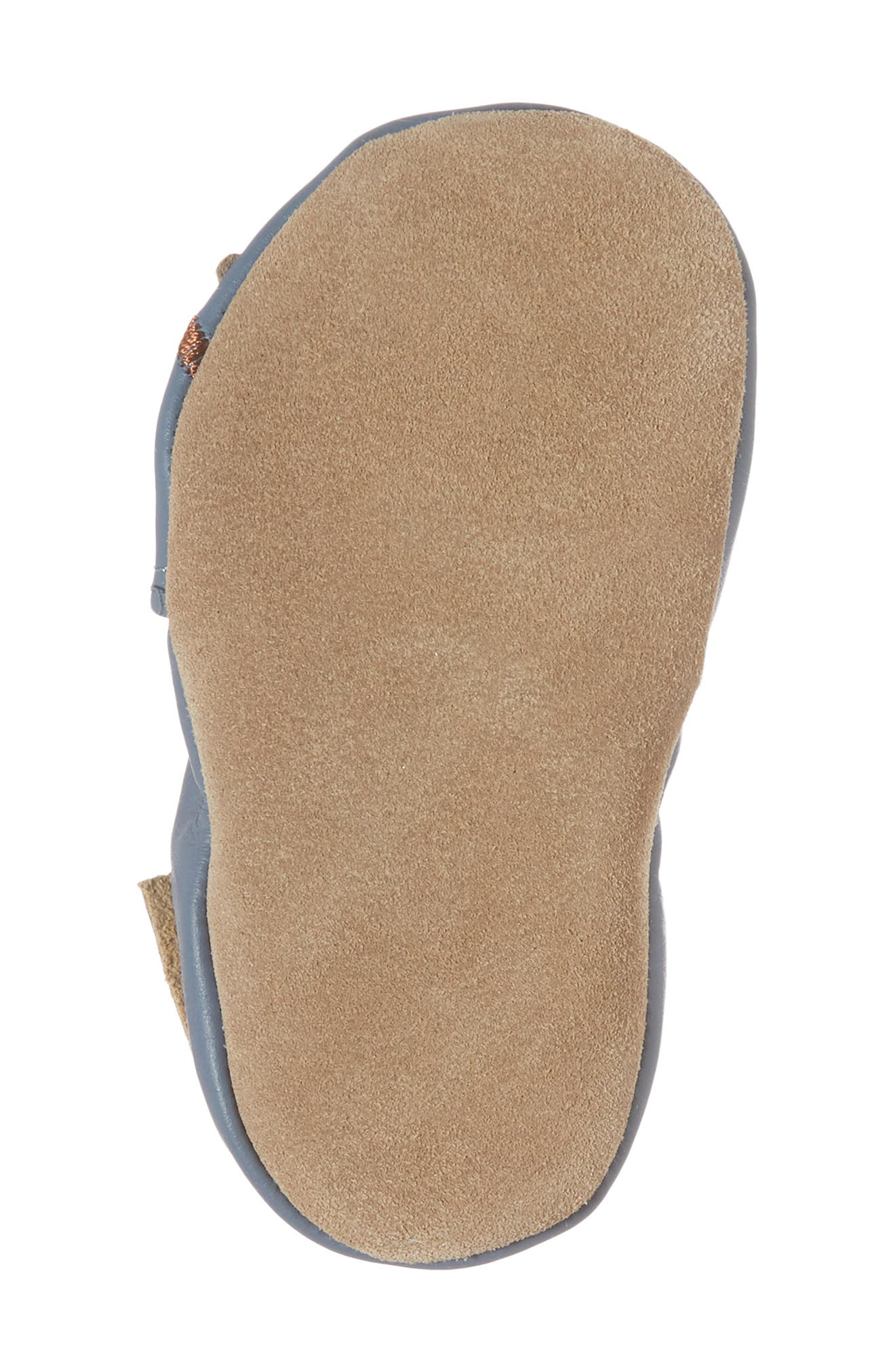 Toucan Tom Moccasin Crib Shoe,                             Alternate thumbnail 6, color,                             China Blue