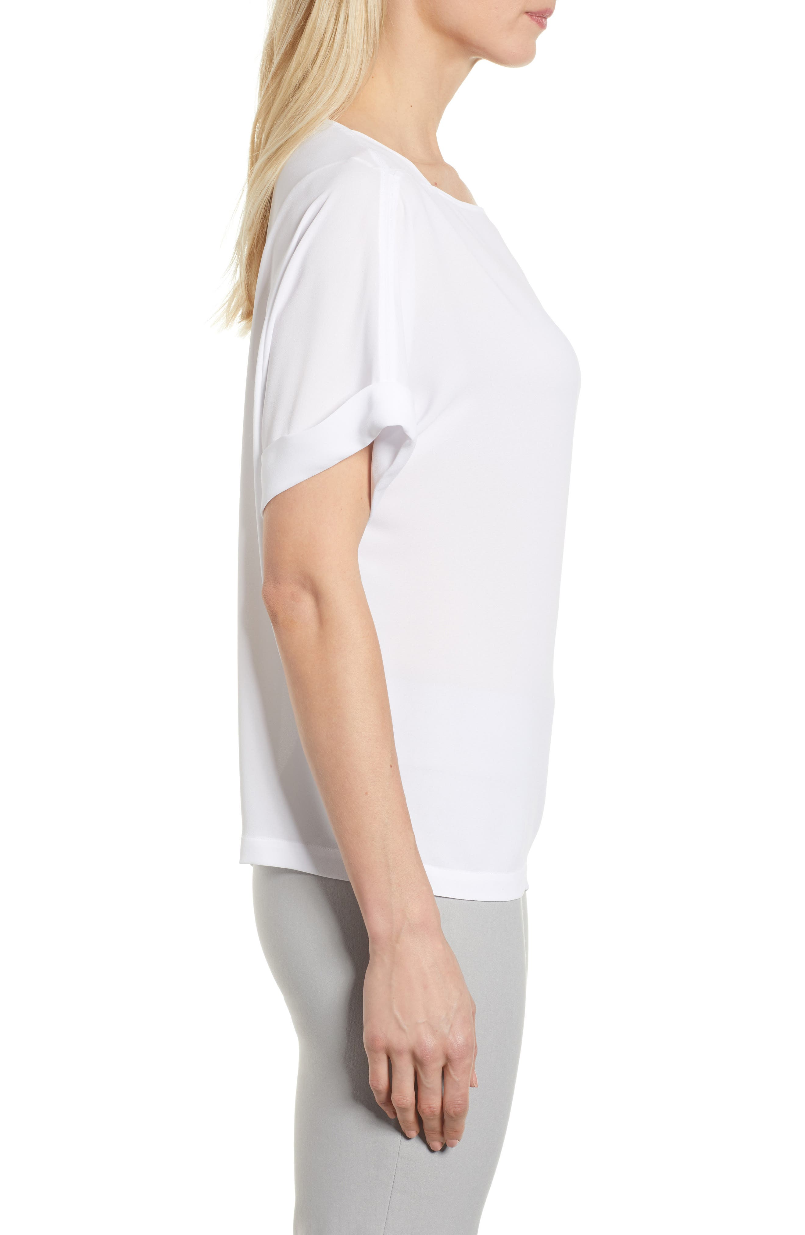 NIC + ZOE Moroccan Tee,                             Alternate thumbnail 3, color,                             Paper White