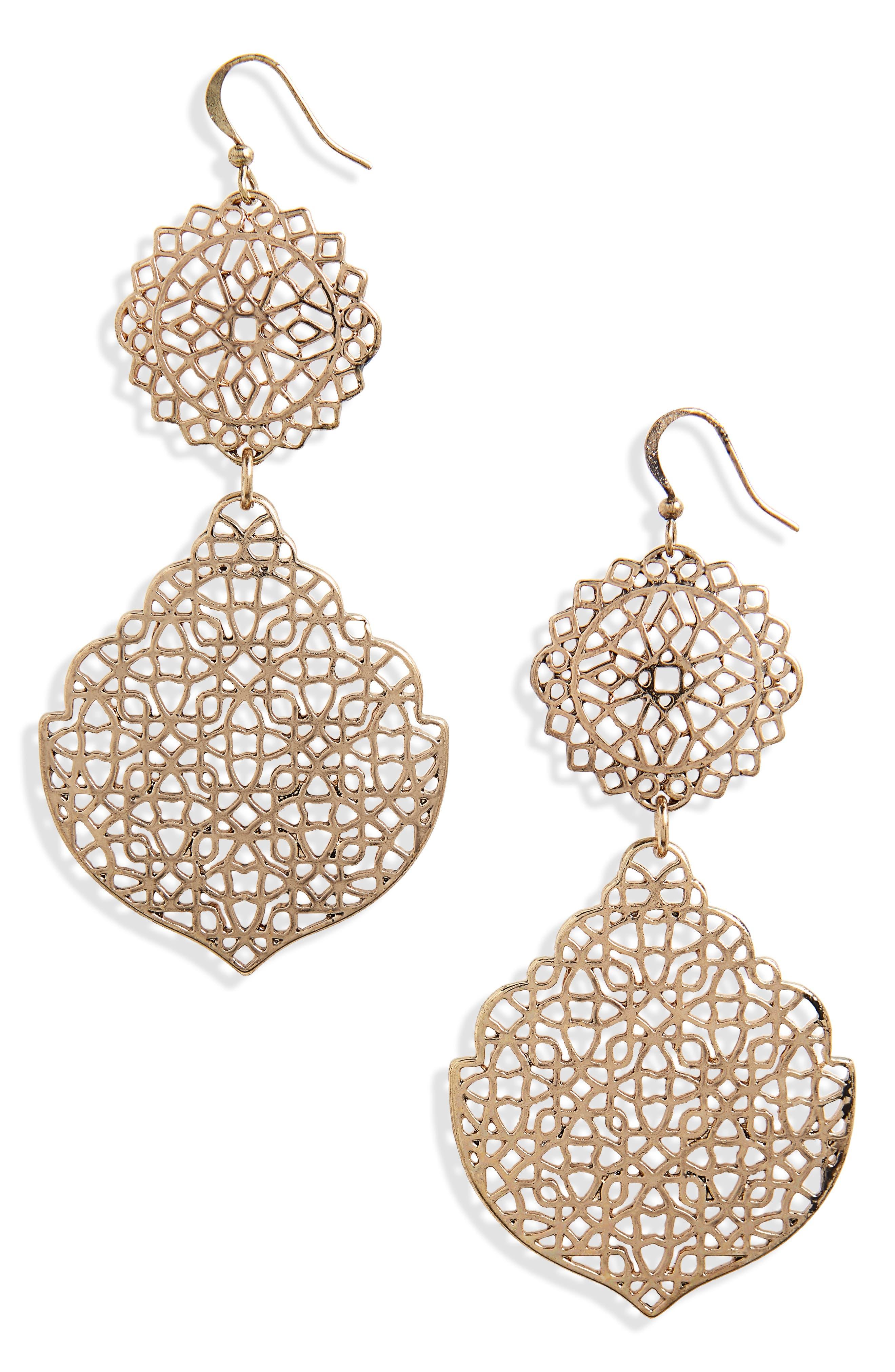Alternate Image 1 Selected - BP. Medallion Earrings