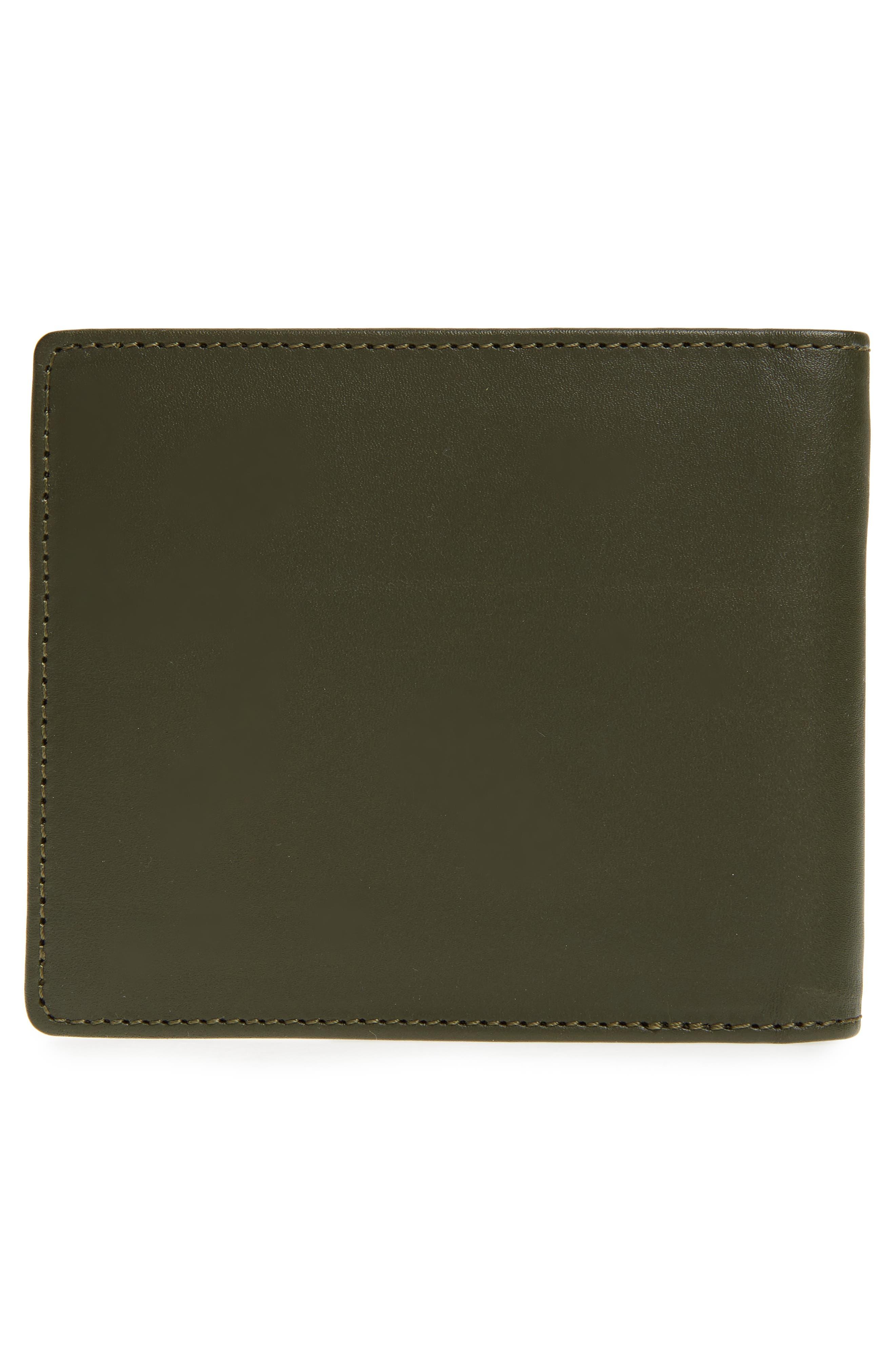 Aly Bifold Leather Wallet,                             Alternate thumbnail 3, color,                             Khaki