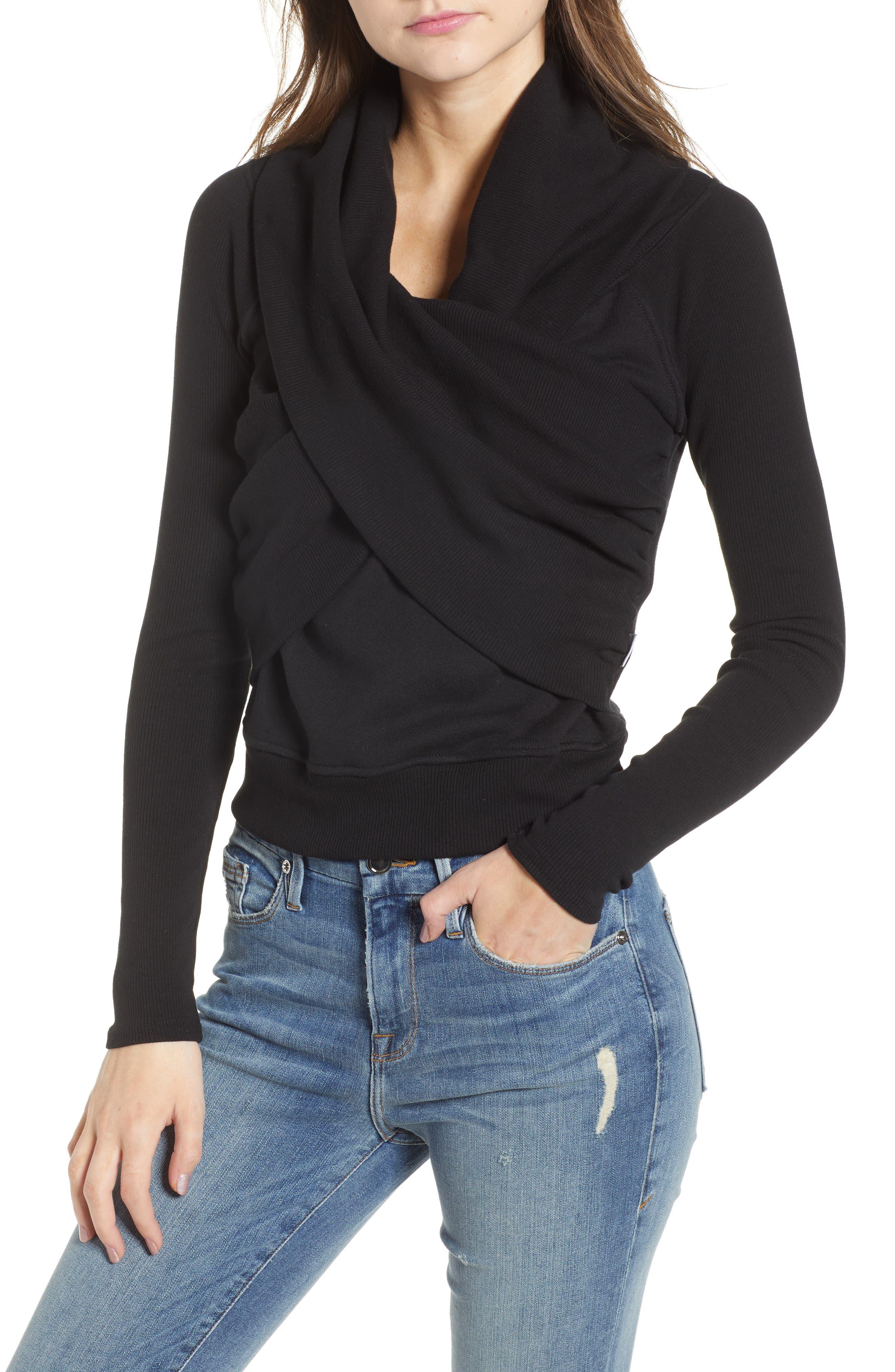 Good American Crossover Sweater (Regular & Plus Size)