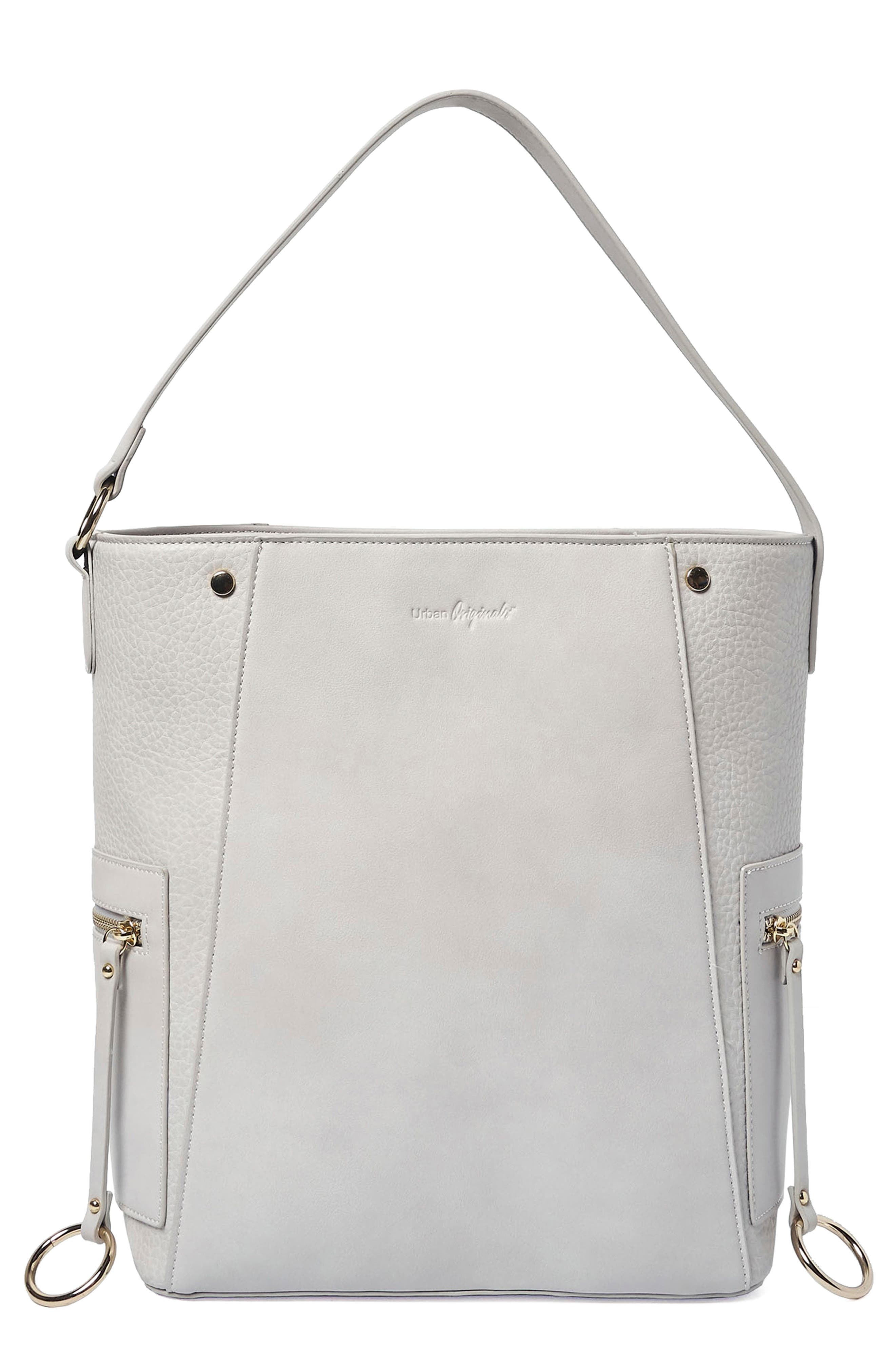 Urban Originals RETRO ROMANCE VEGAN LEATHER TOTE - GREY