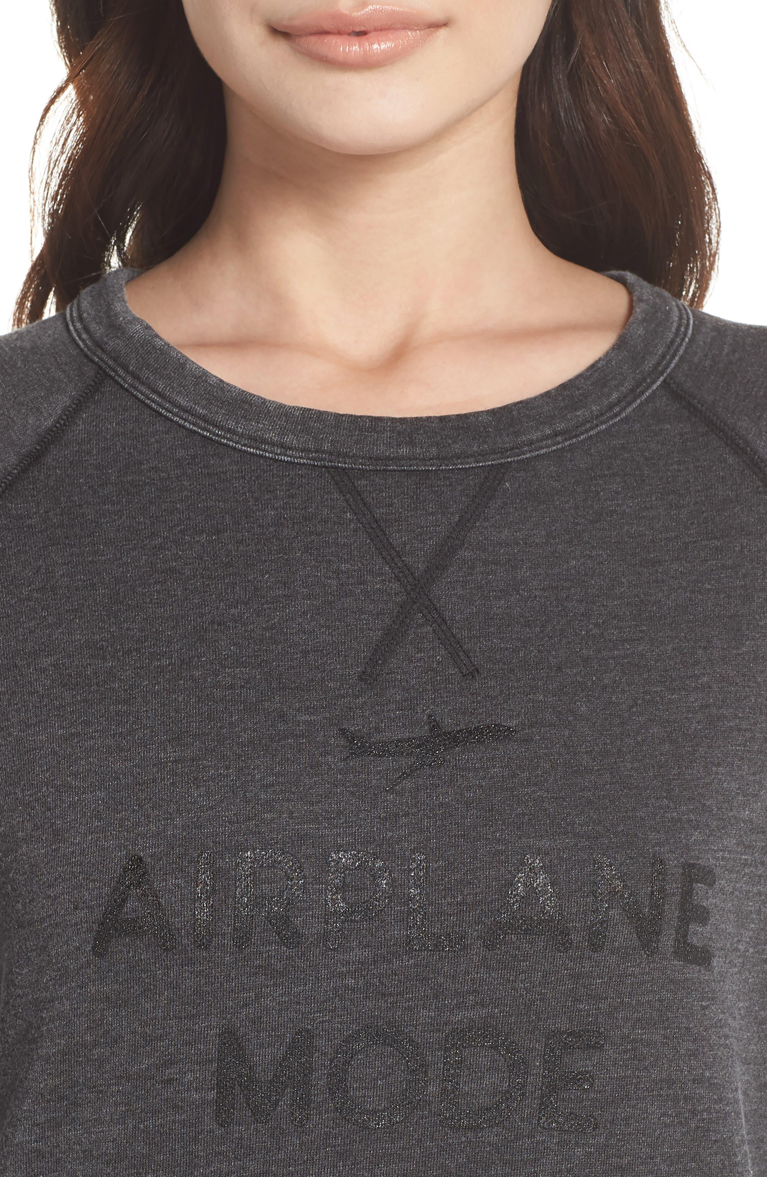 Alternate Image 5  - The Laundry Room Airplane Mode Cozy Lounge Sweatshirt
