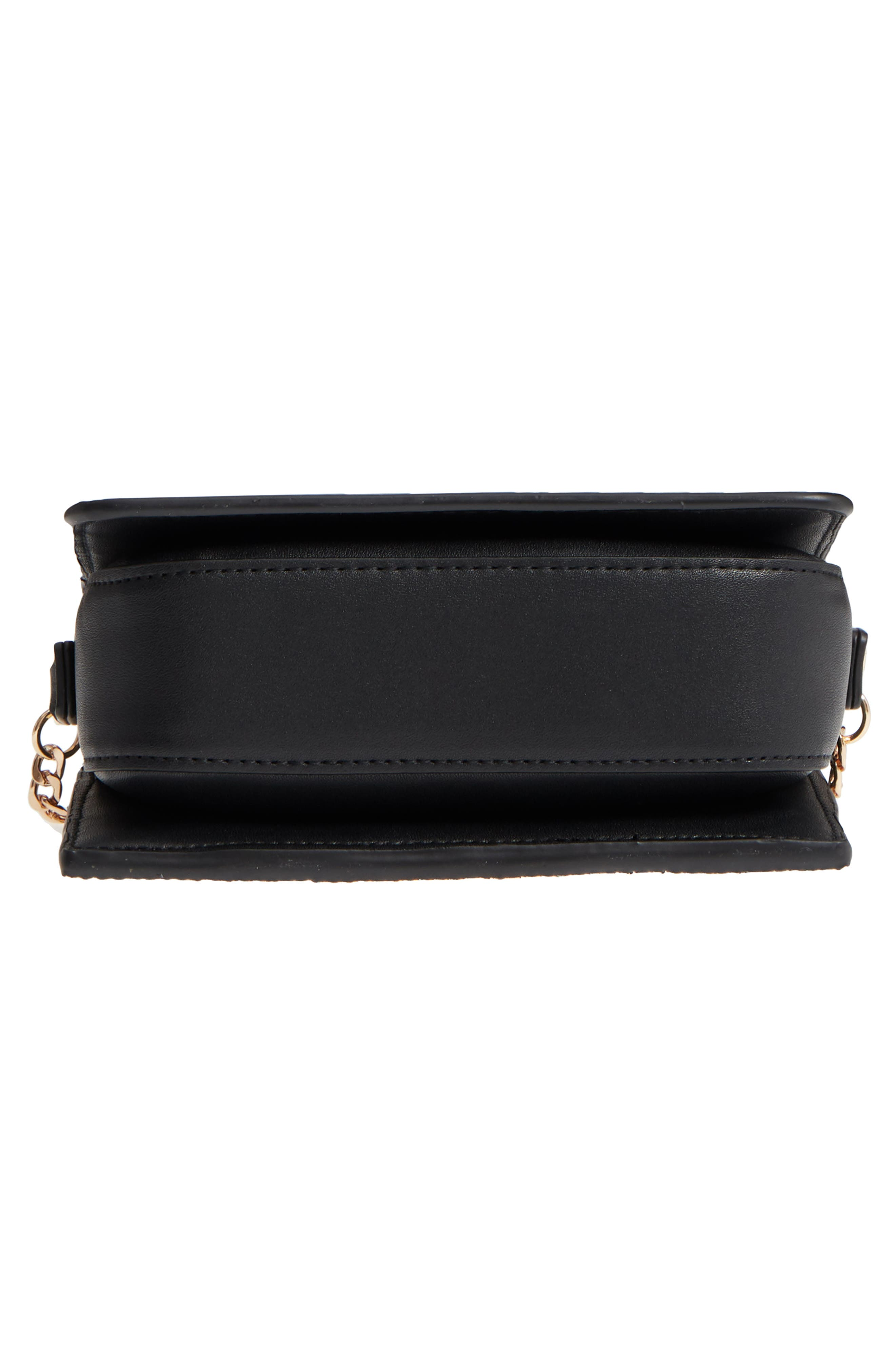 Rosie Diamante Rainbow Crossbody Bag,                             Alternate thumbnail 6, color,                             Black Multi