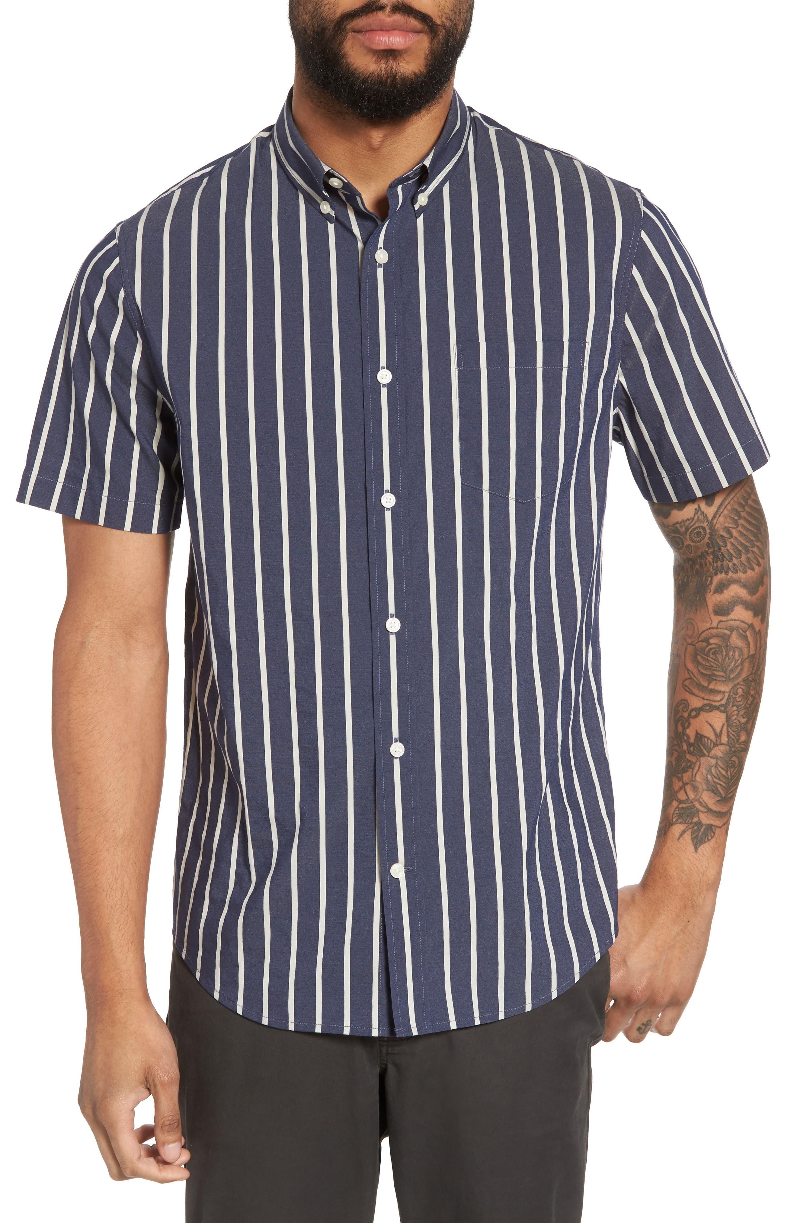 Regular Fit Stretch Short Sleeve Sport Shirt,                         Main,                         color, New Coastal