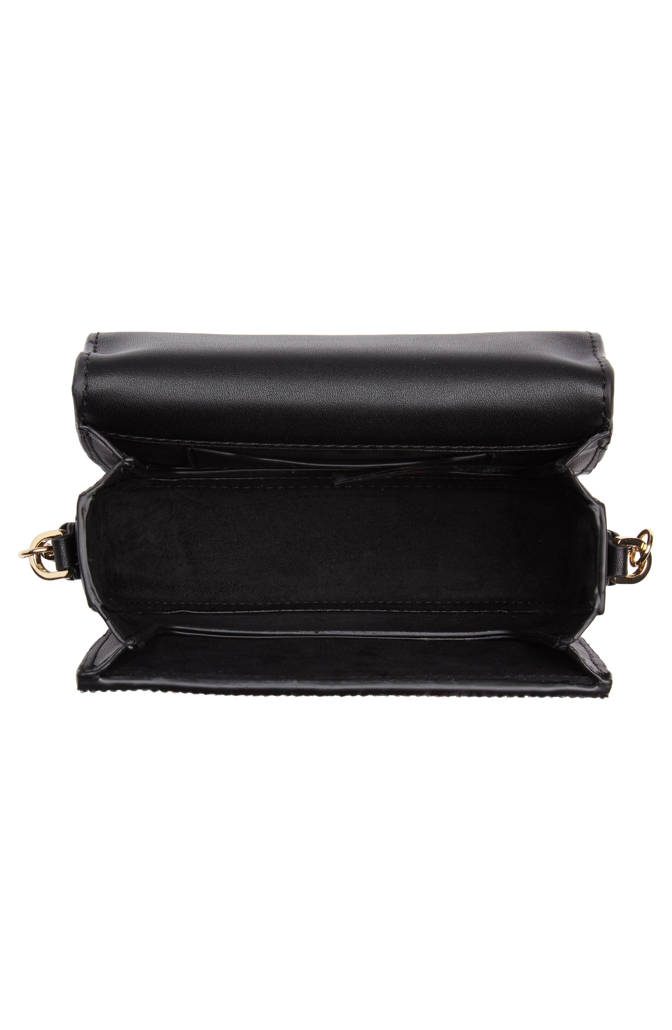 Rosie Diamante Rainbow Crossbody Bag,                             Alternate thumbnail 4, color,                             Black Multi