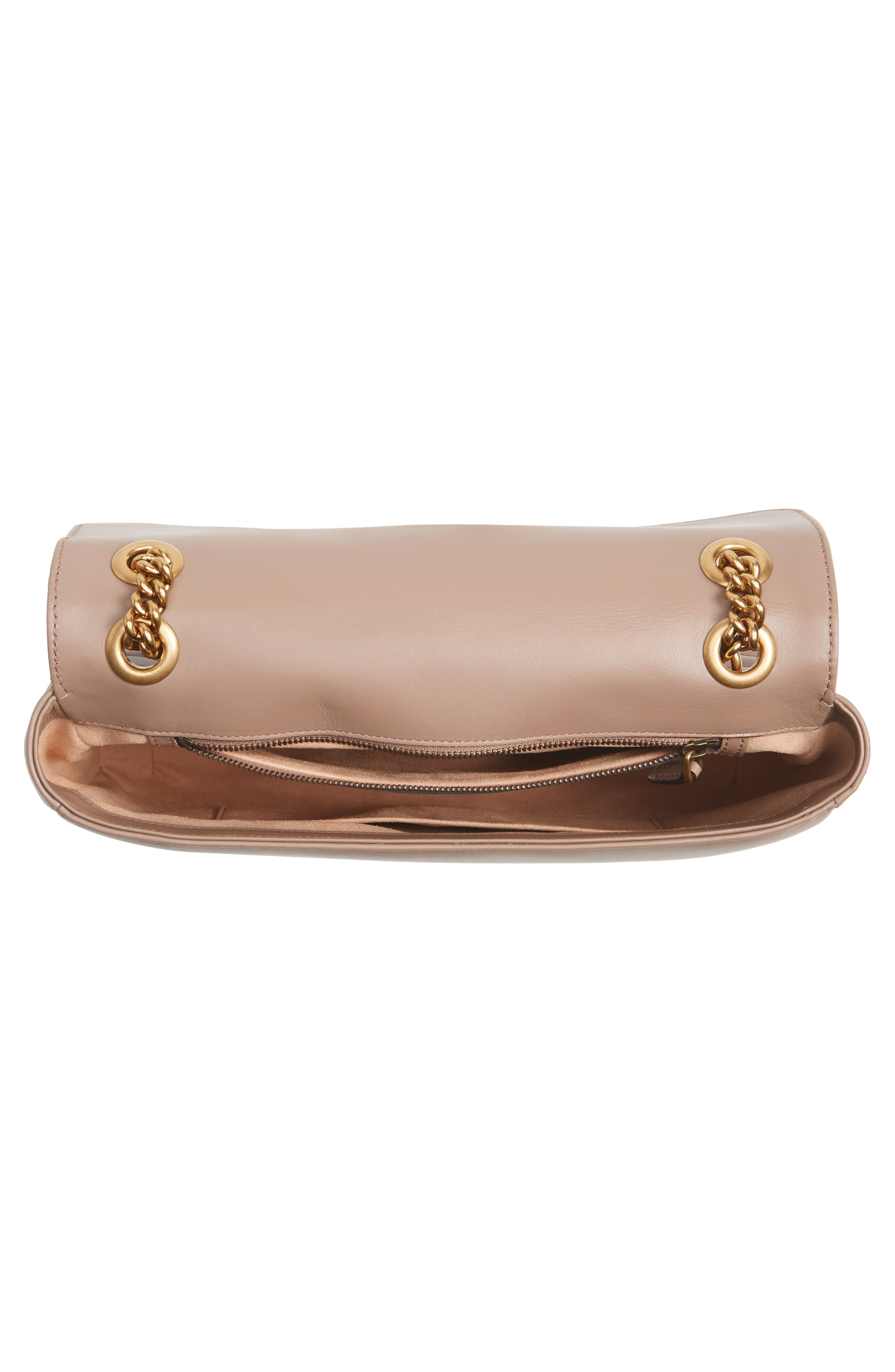 Medium GG Marmont 2.0 Matelassé Leather Shoulder Bag,                             Alternate thumbnail 4, color,                             Porcelain Rose