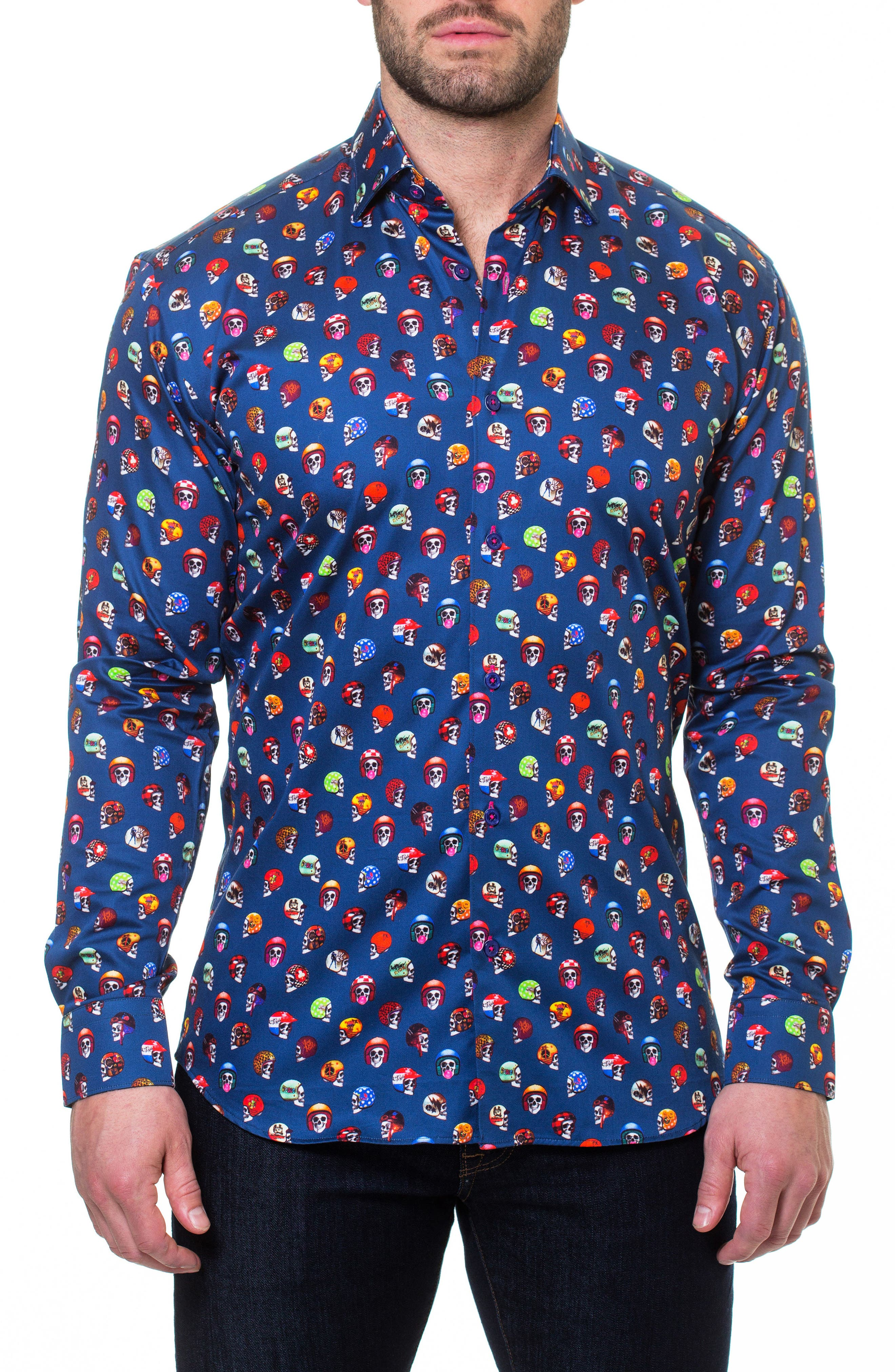 Luxor Rider Slim Fit Sport Shirt,                         Main,                         color, Blue