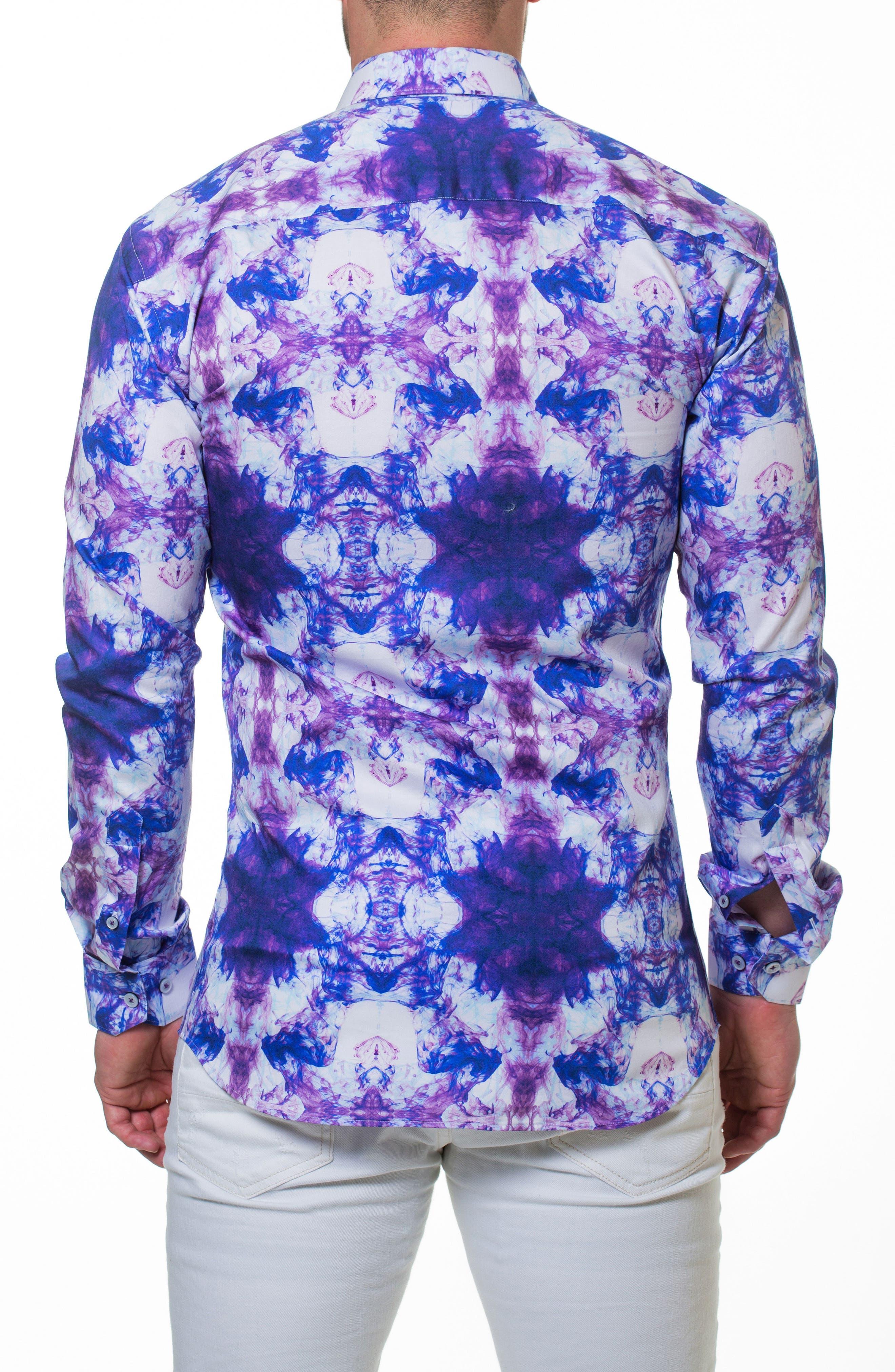 Luxor Smoky Slim Fit Sport Shirt,                             Alternate thumbnail 2, color,                             Purple