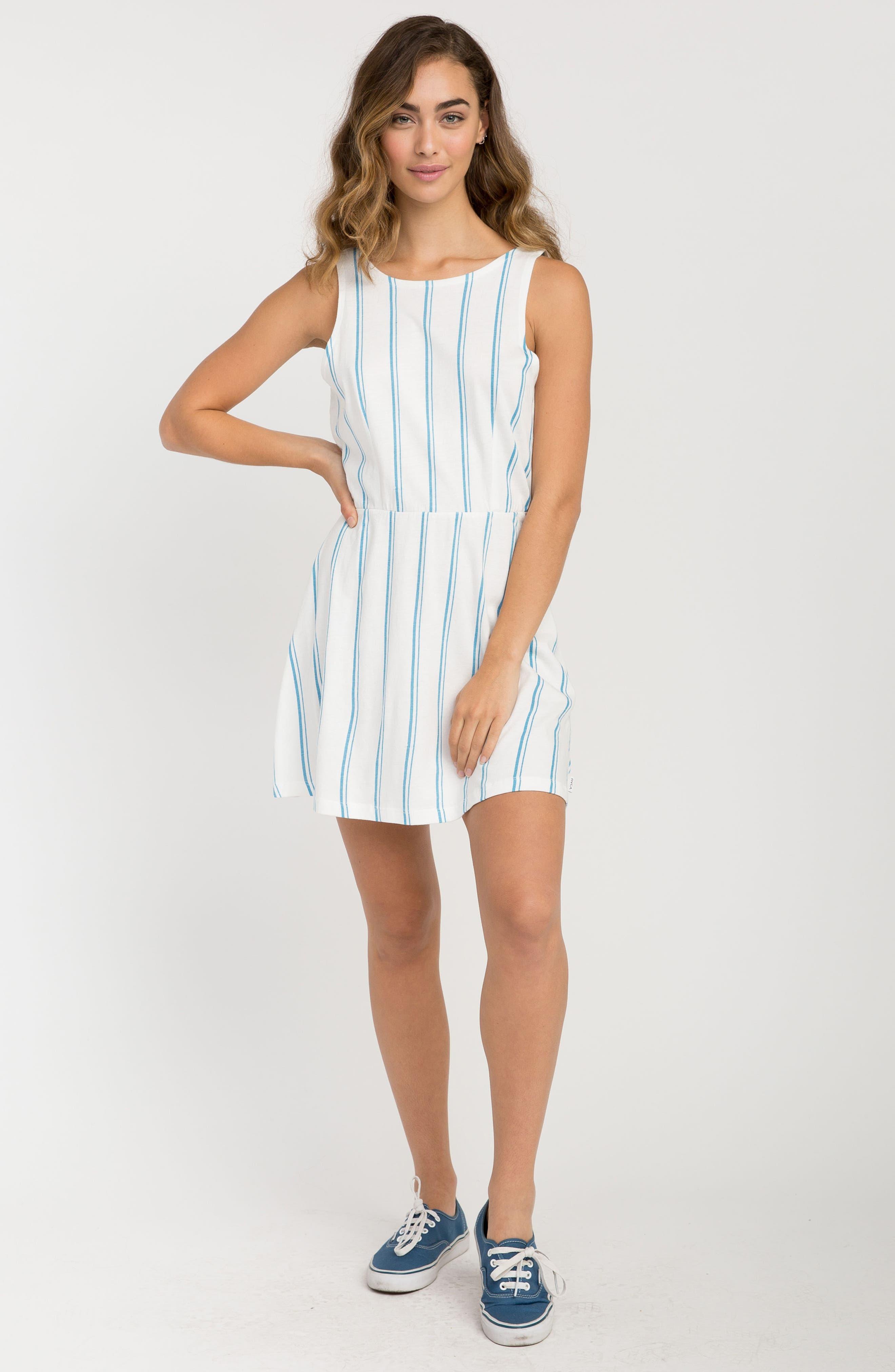 Peony Stripe Sundress,                             Alternate thumbnail 2, color,                             Vintage White