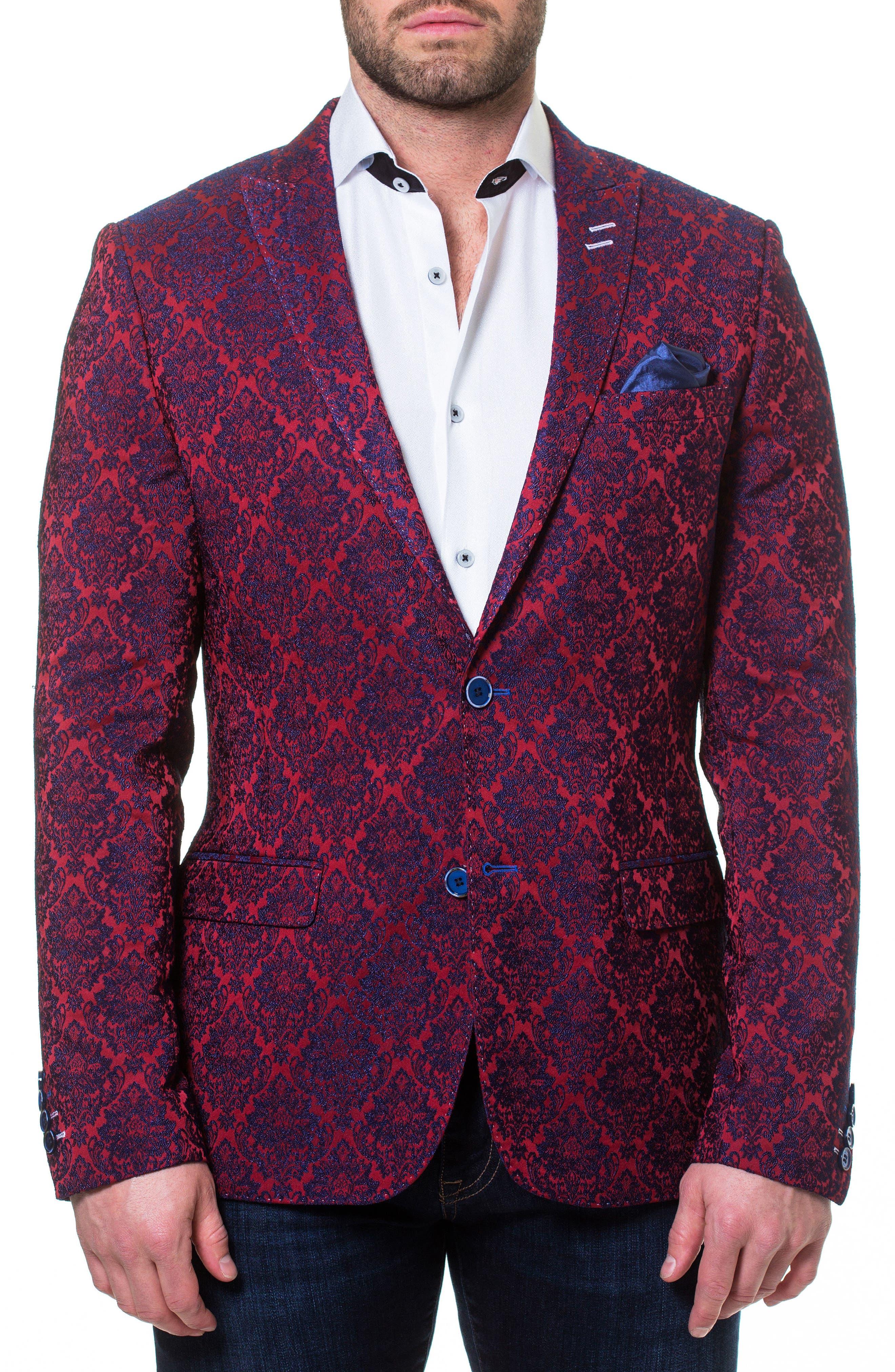 Main Image - Maceoo Descartes Jacquard Linen & Cotton Blend Sport Coat