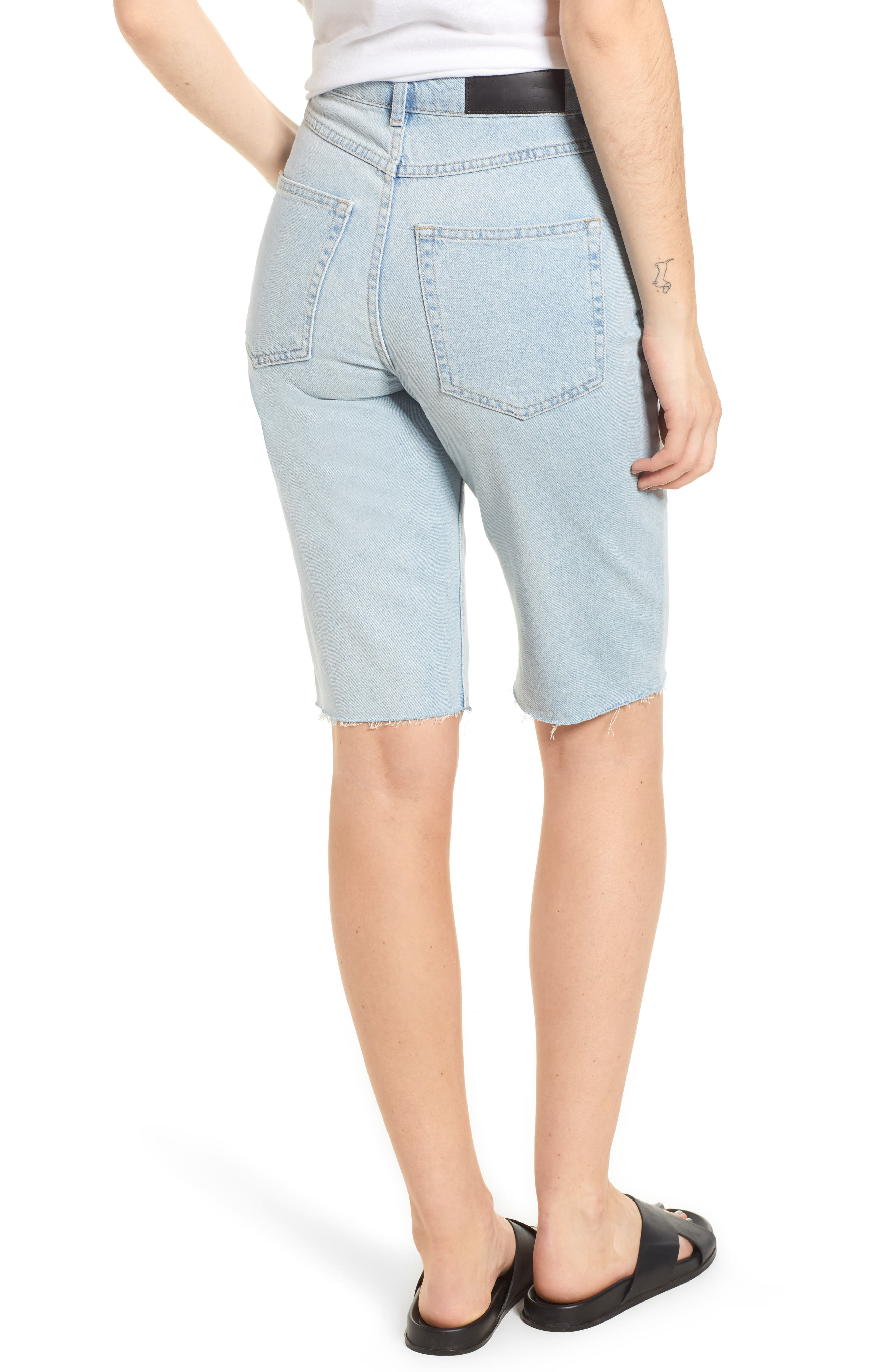 Alternate Image 2  - Topshop Boutique Bleach Denim Board Shorts