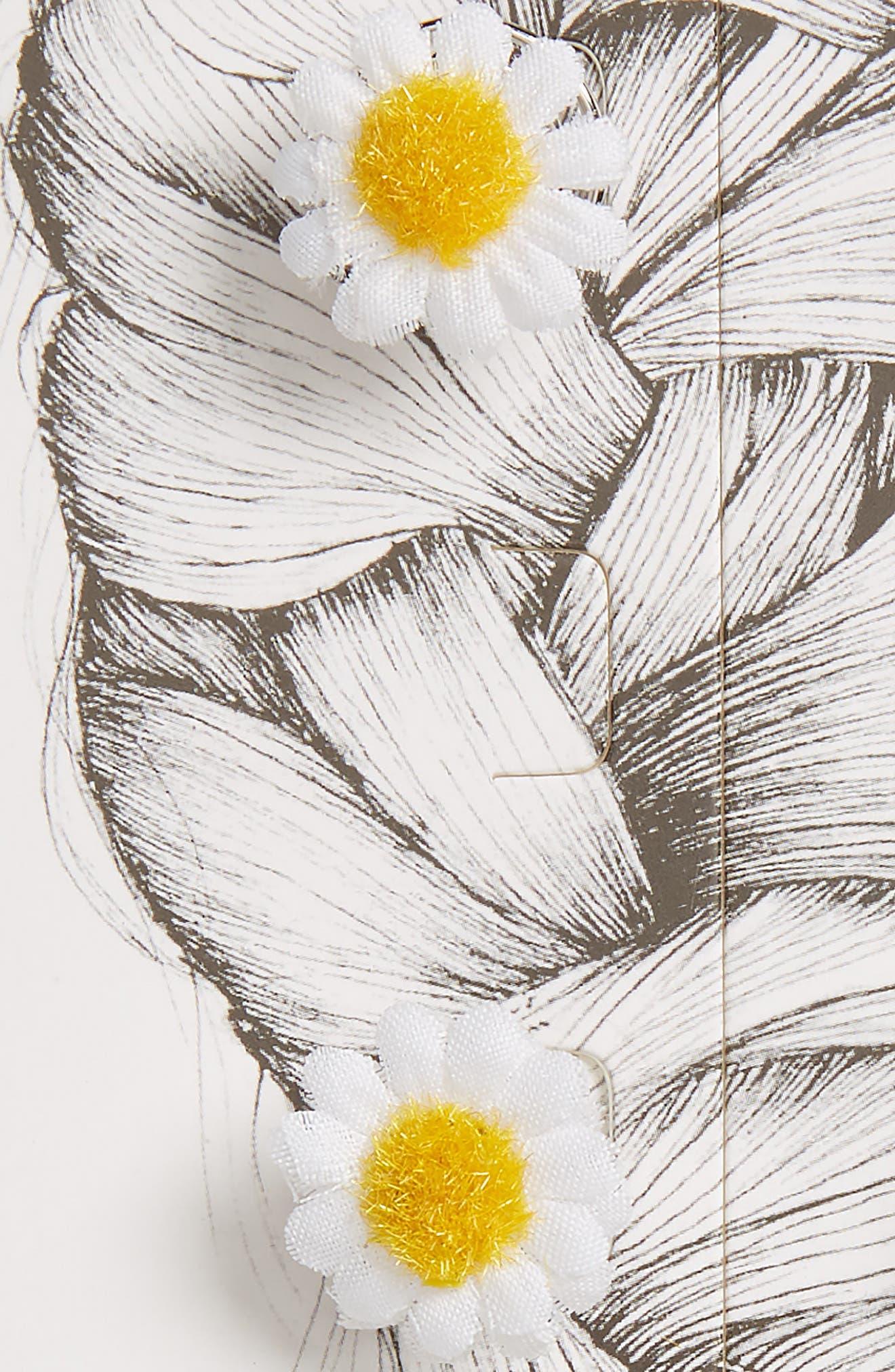 Fab Daisy Hair Swirls,                             Alternate thumbnail 2, color,                             White