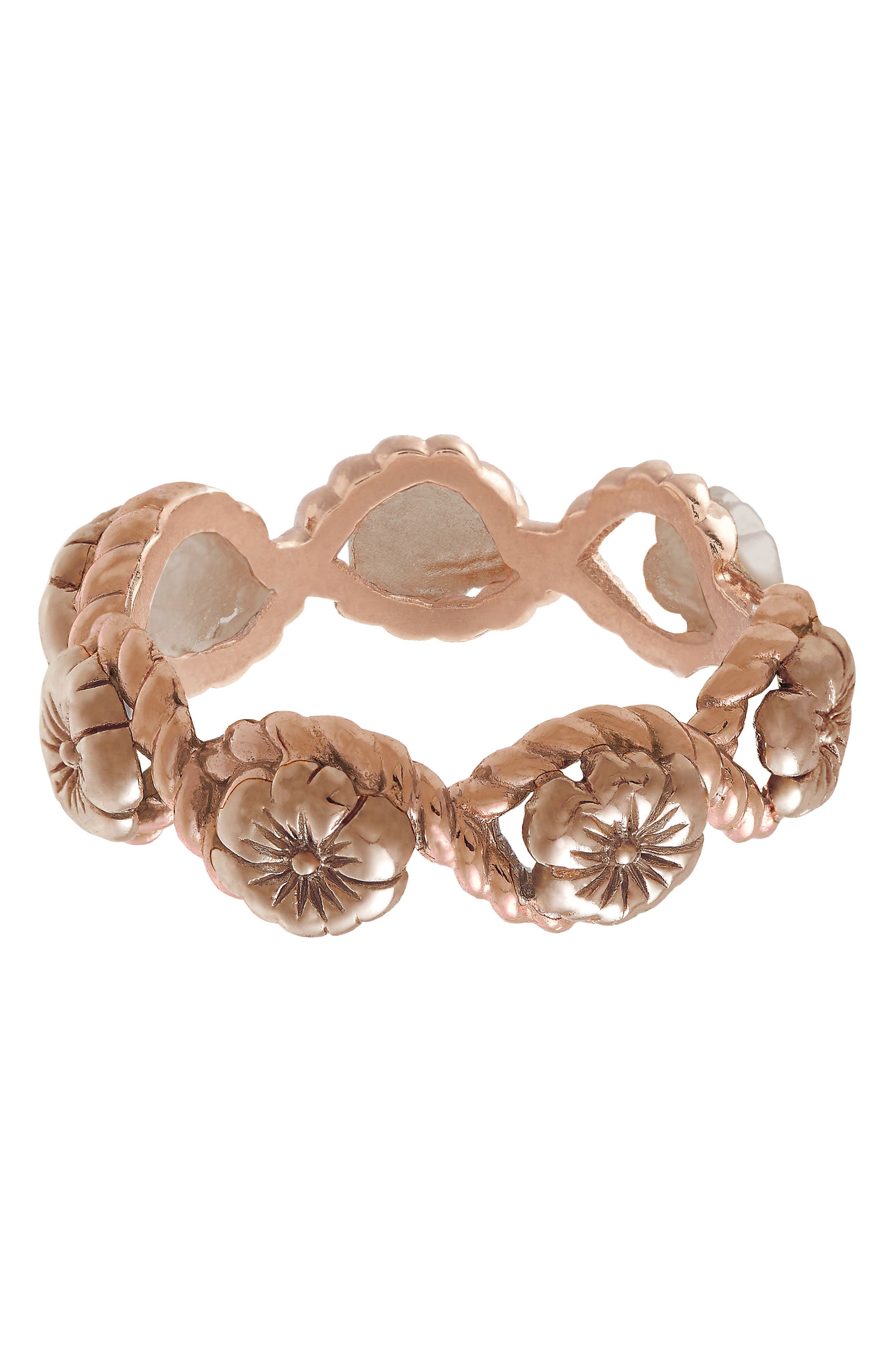 Flower Show Rope Ring, Rose Gold