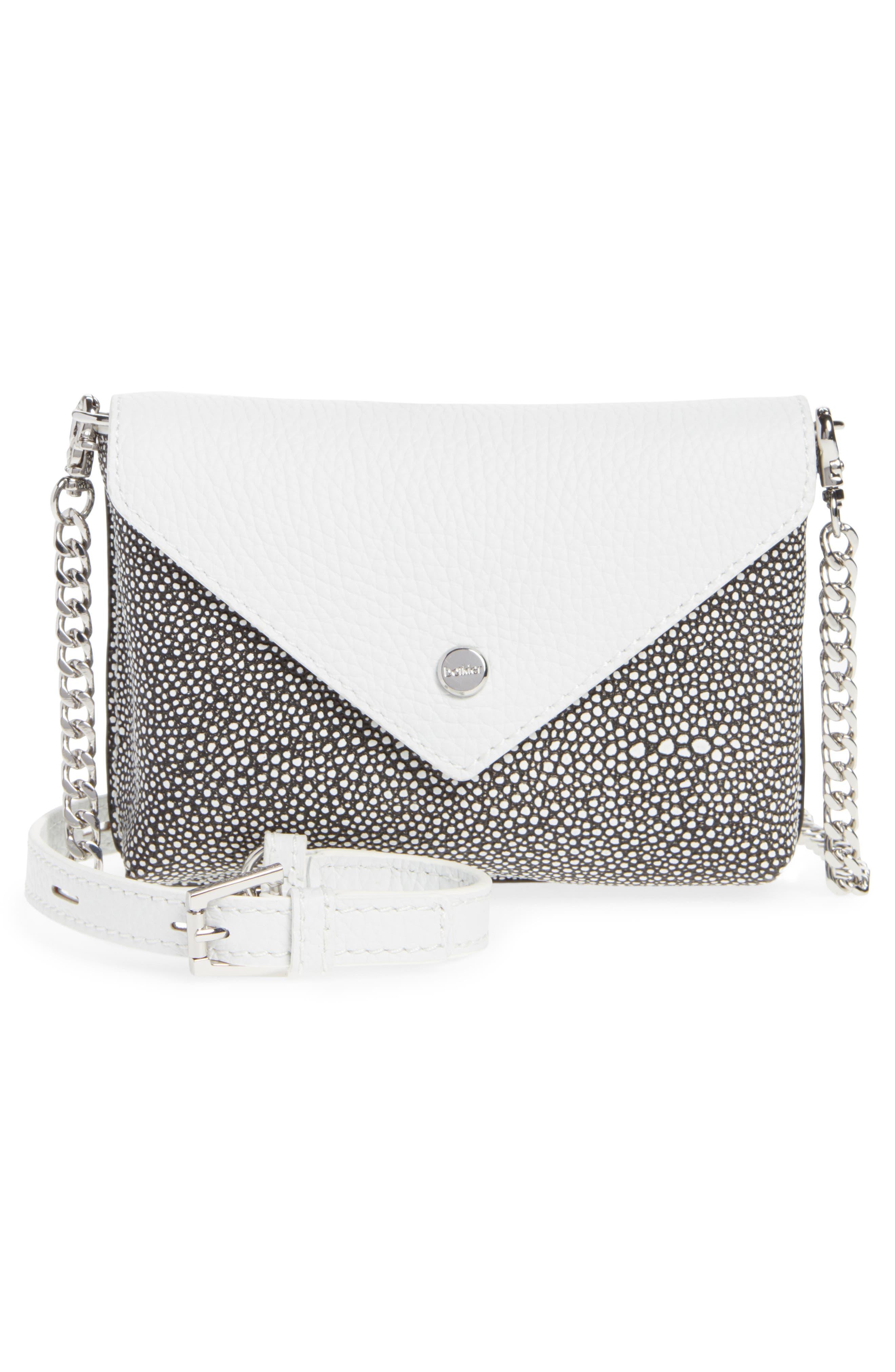 Vivi Calfskin Leather Convertible Belt Bag,                             Alternate thumbnail 2, color,                             Chalk Stingray