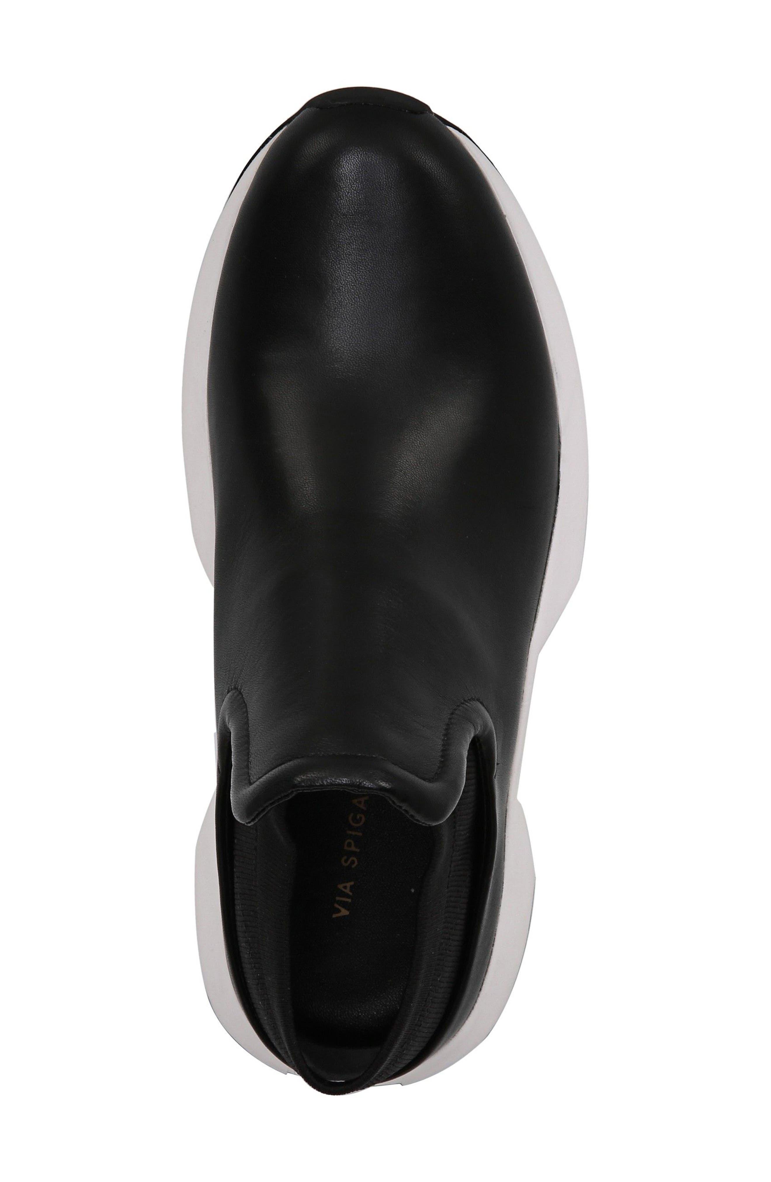 Veila Slip-On Sneaker,                             Alternate thumbnail 5, color,                             Black Leather