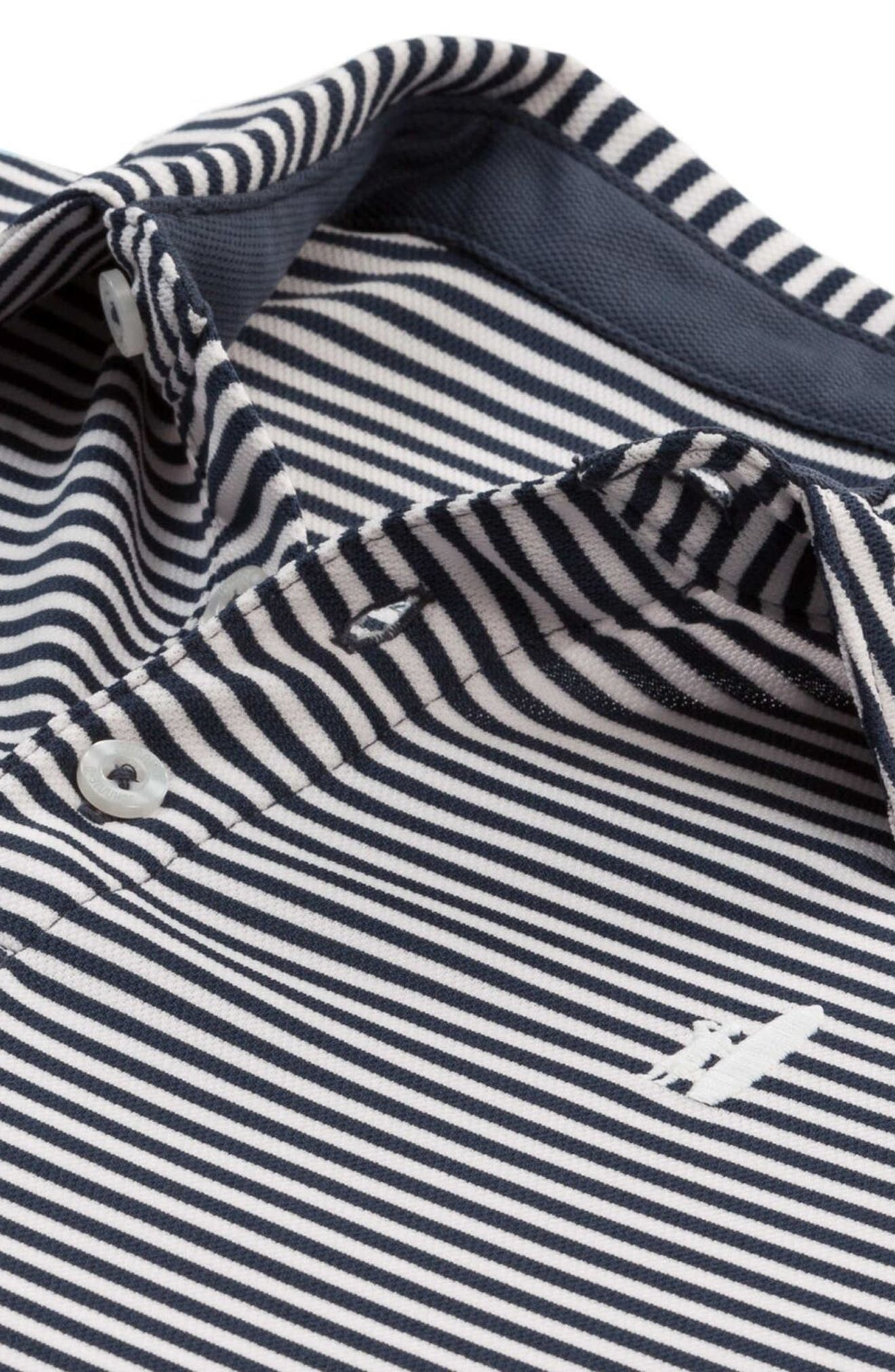 Bunker Striped Polo,                             Alternate thumbnail 2, color,                             Midnight