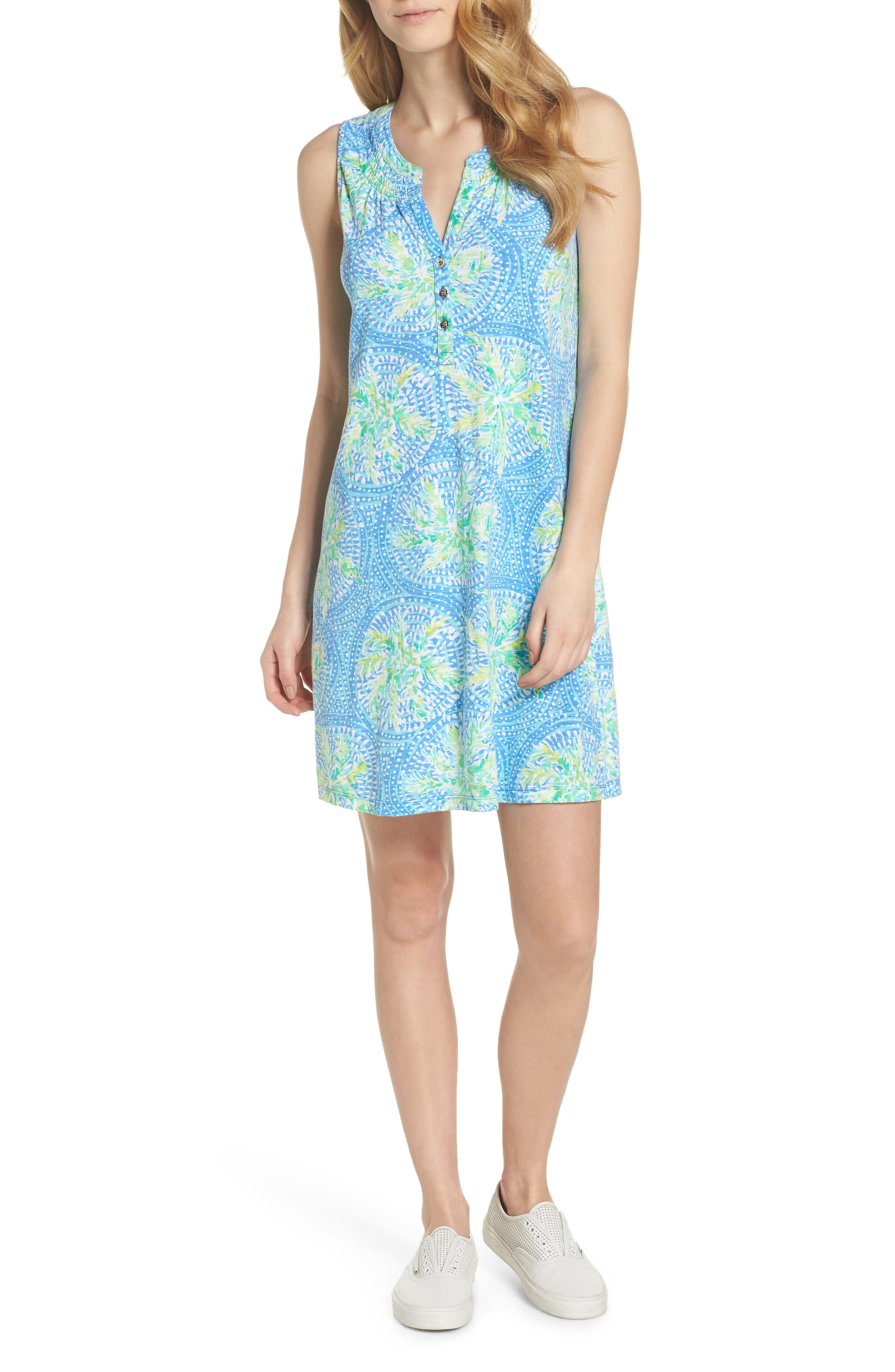 Essie Shift Dress,                         Main,                         color, Bennett Blue Tropic Like Its H