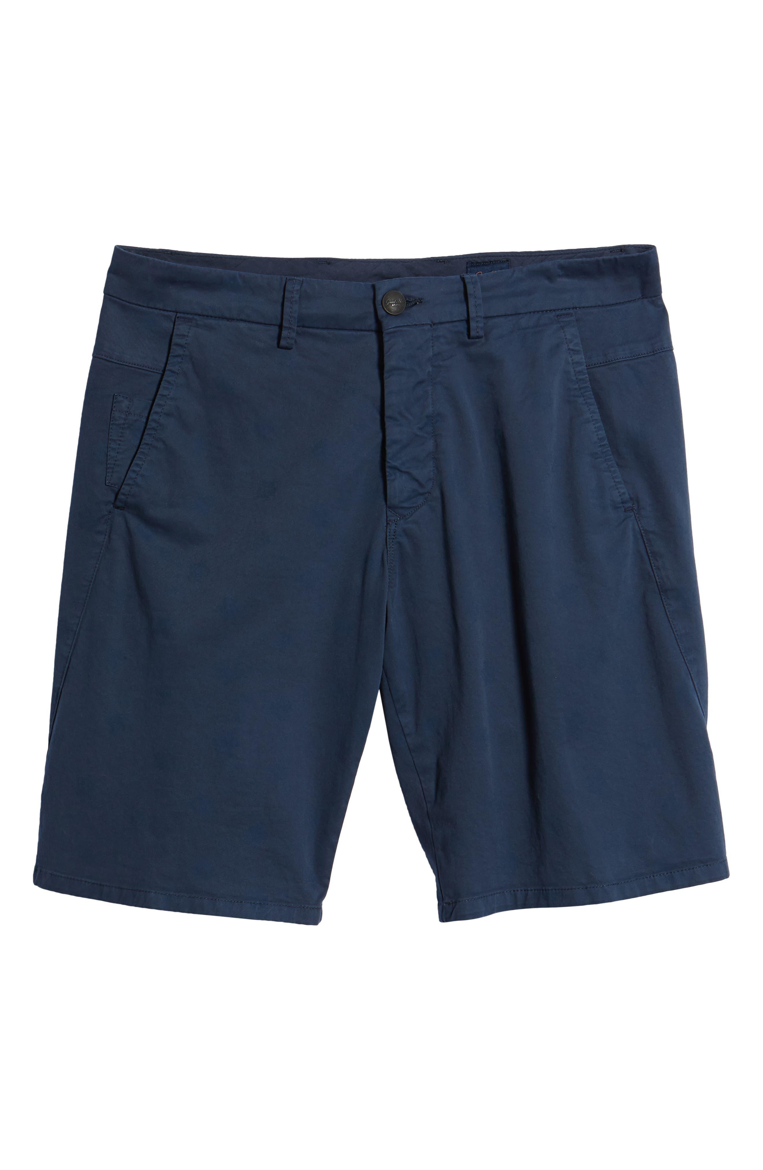 Monaco Floral Stretch Shorts,                             Main thumbnail 1, color,                             Indigo