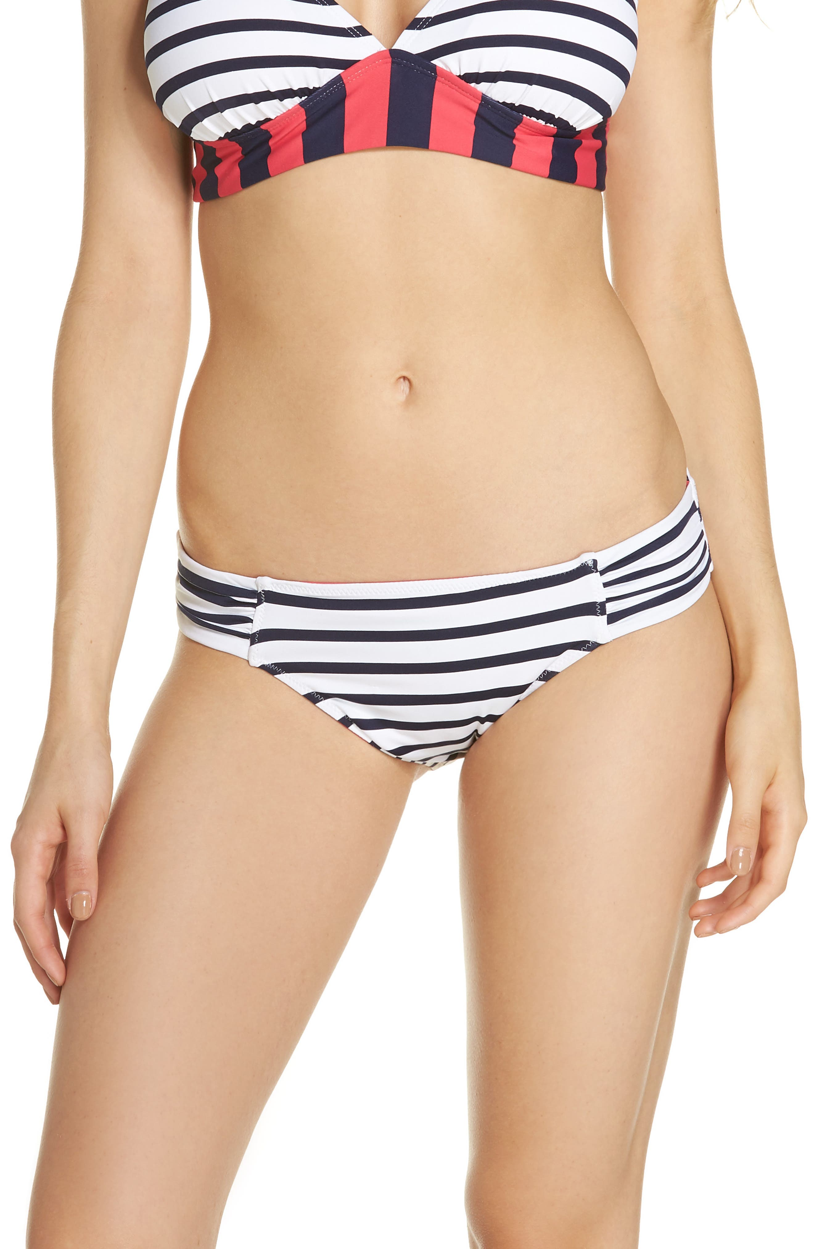 Channel Surfing Reversible Hipster Bikini Bottoms,                         Main,                         color, Mare Blue