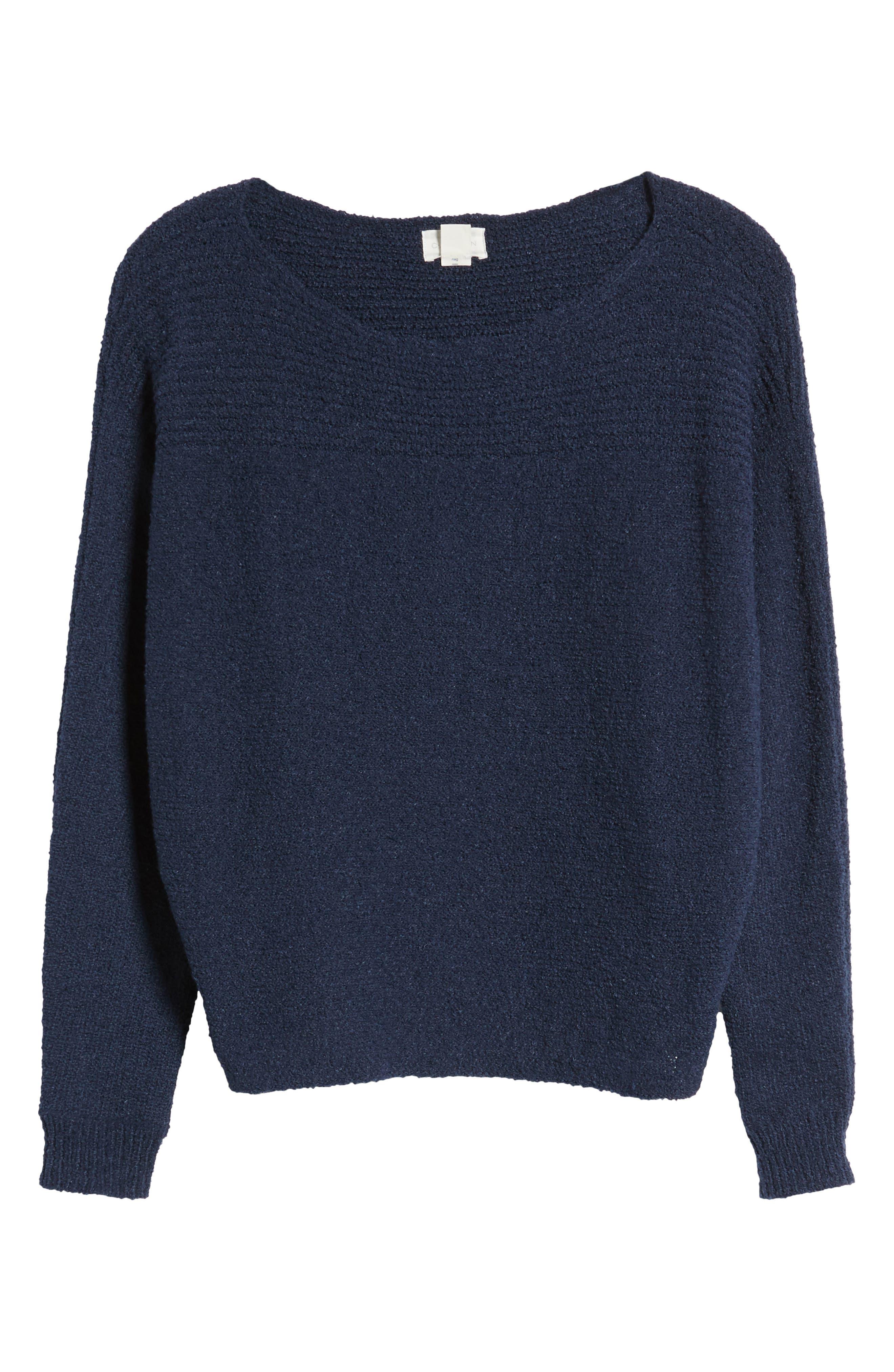 Calson<sup>®</sup> Dolman Sleeve Sweater,                             Alternate thumbnail 7, color,                             Navy Indigo
