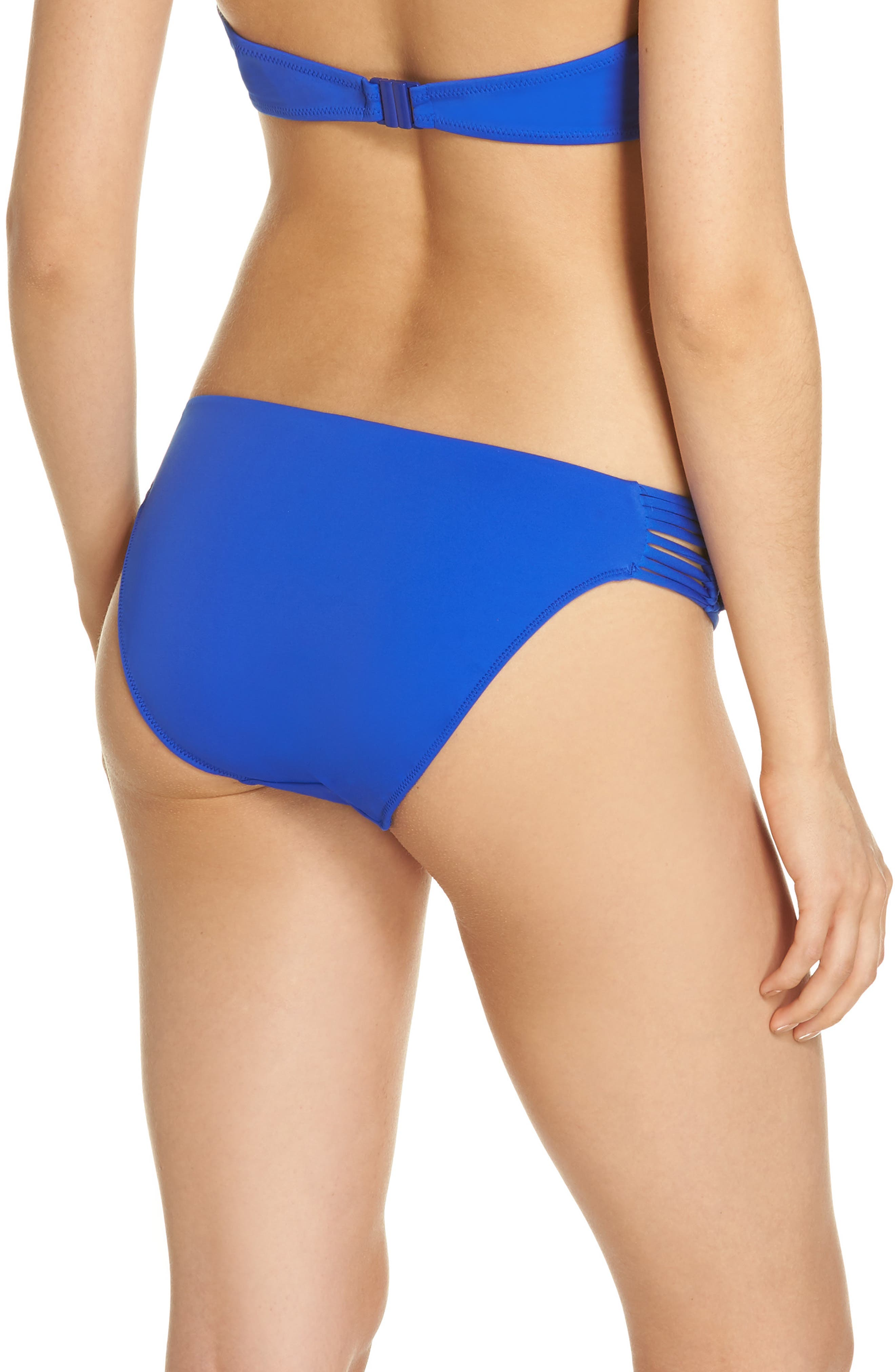 Macramé Bikini Bottoms,                             Alternate thumbnail 2, color,                             Cobalt