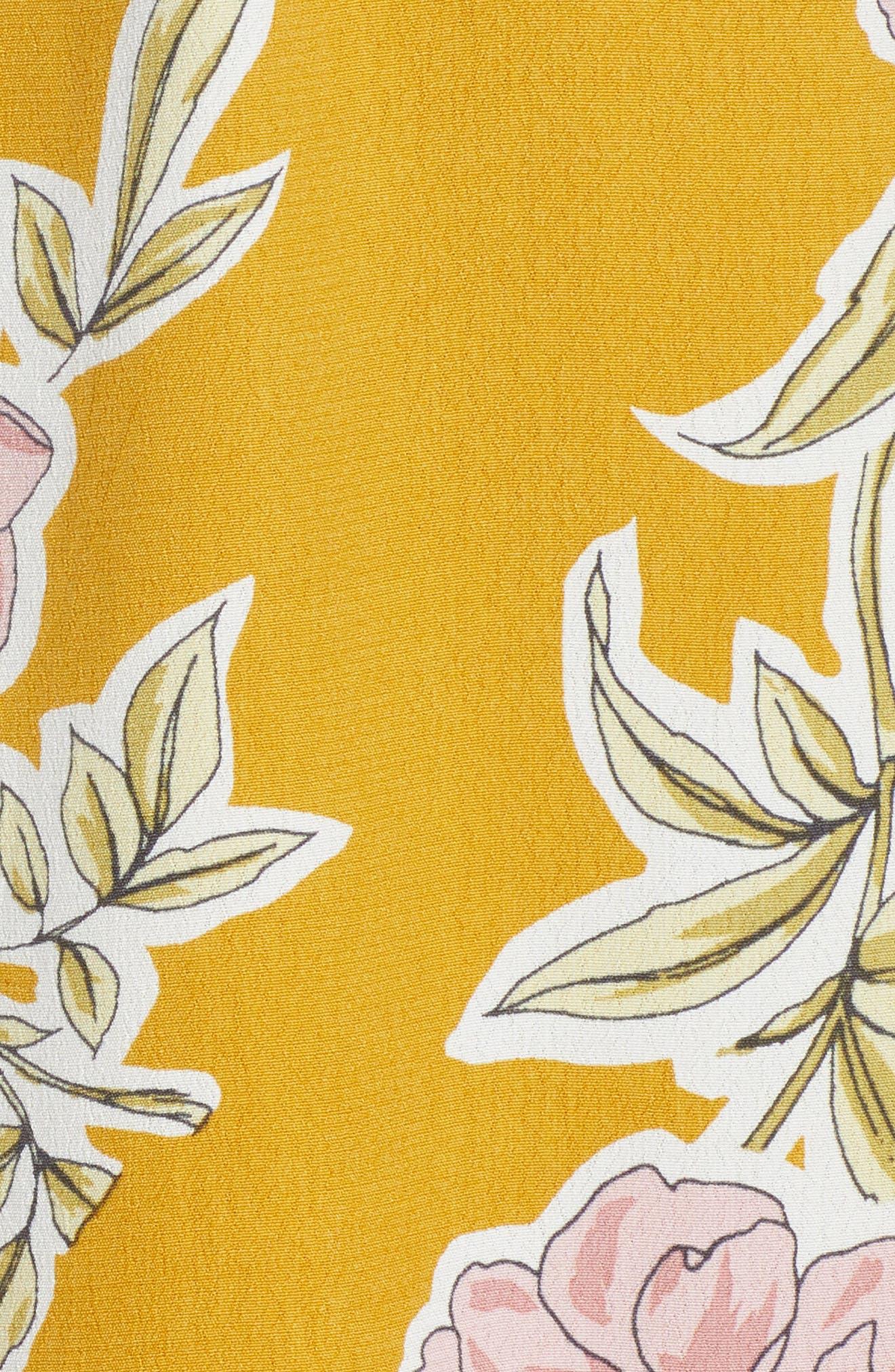 Fonda Cold Shoulder Halter Dress,                             Alternate thumbnail 6, color,                             Yellow Gold
