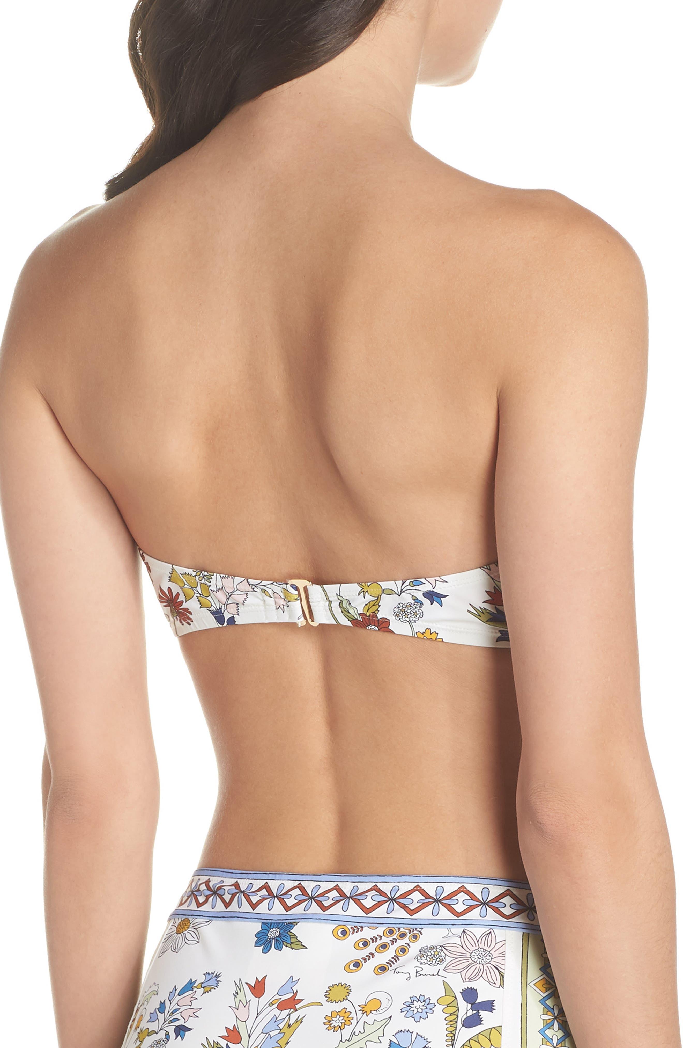 Meadow Folly Bikini Top,                             Alternate thumbnail 2, color,                             Ivory Meadow Folly