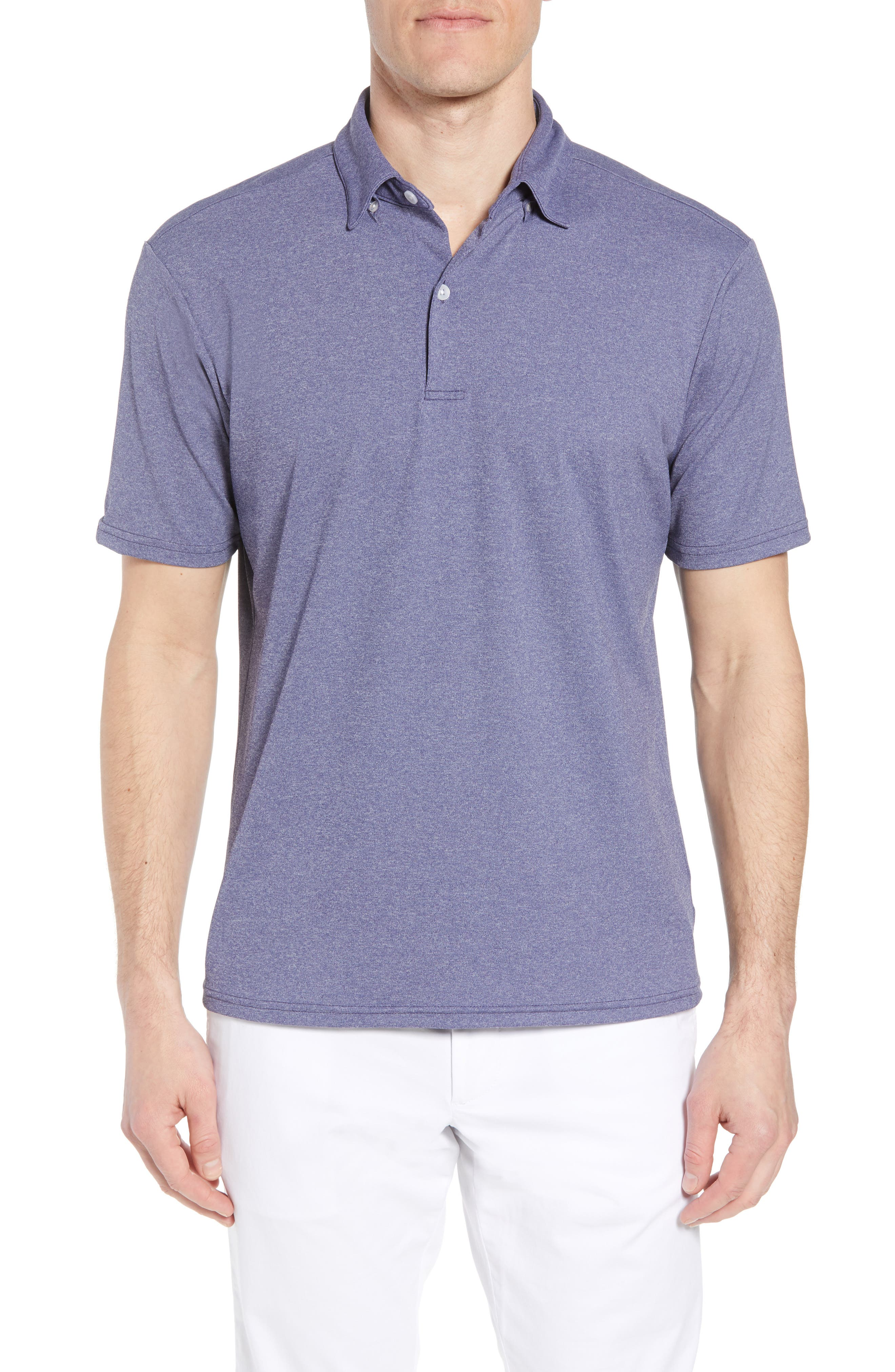 Slim Fit Active Polo,                         Main,                         color, Ashe Navy