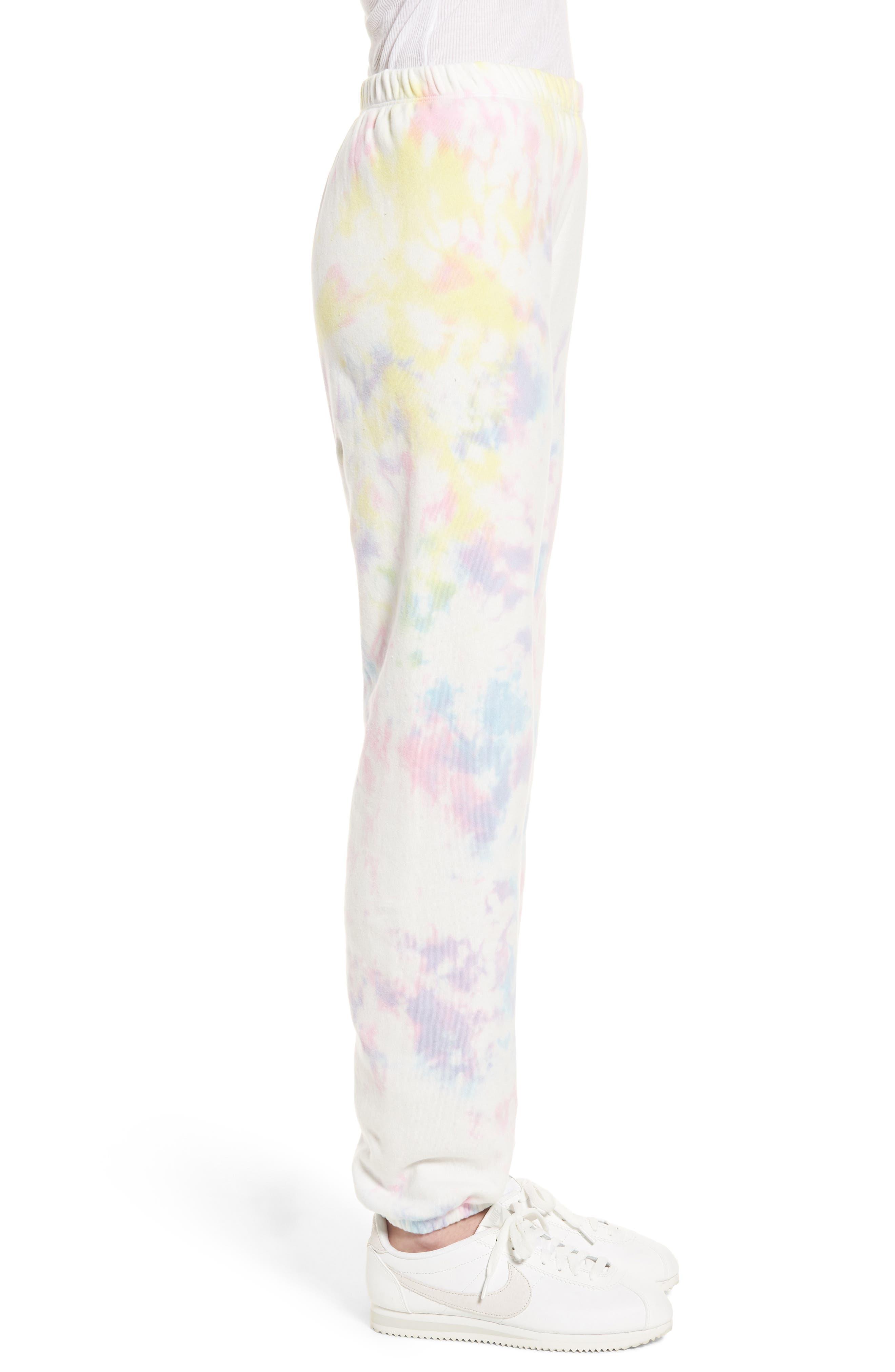 Aura Tie Dye Easy Sweatpants,                             Alternate thumbnail 3, color,                             Aura Tie Dye
