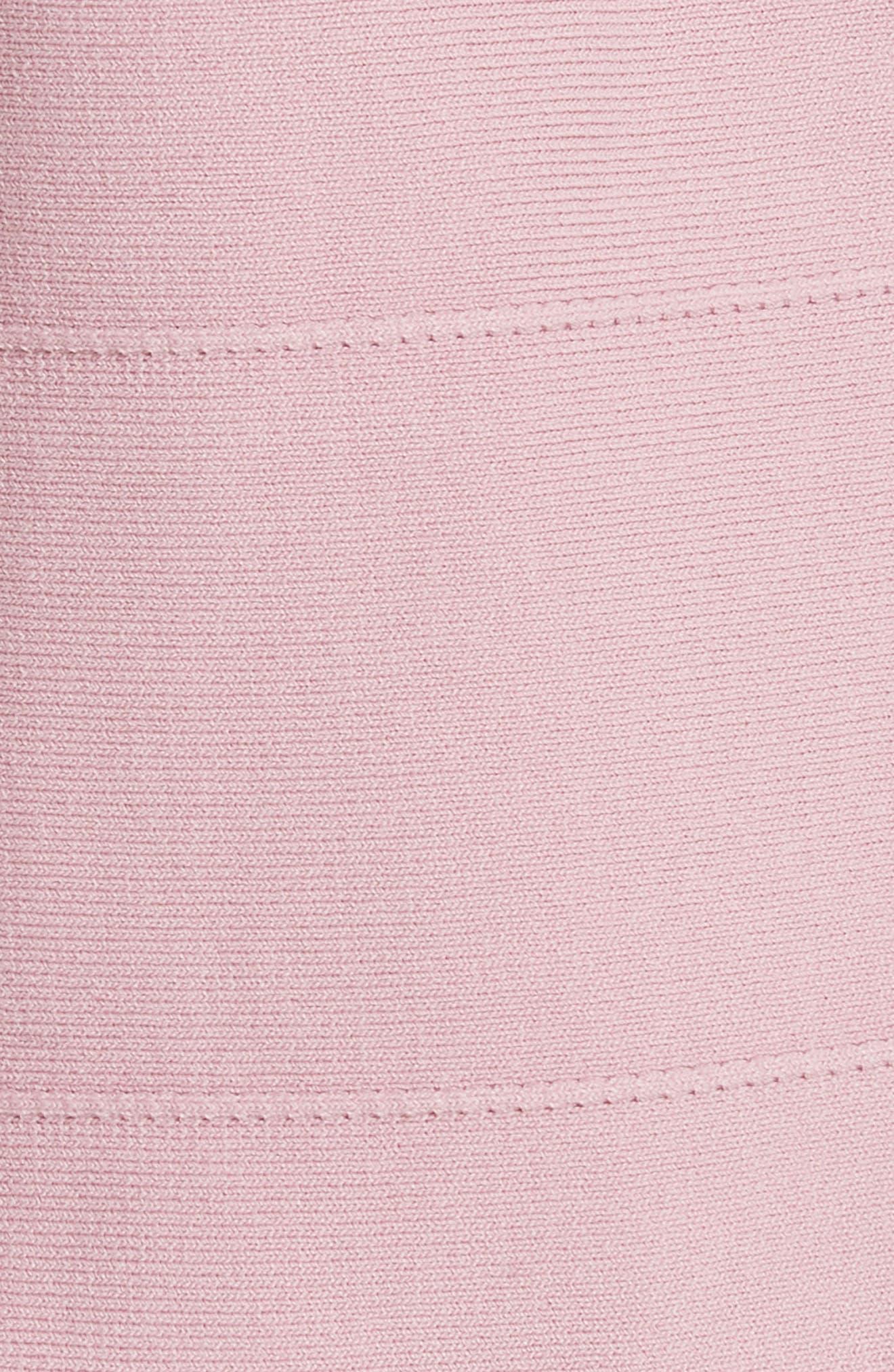 Bow Neck Knit Top,                             Alternate thumbnail 5, color,                             Dusky Pink