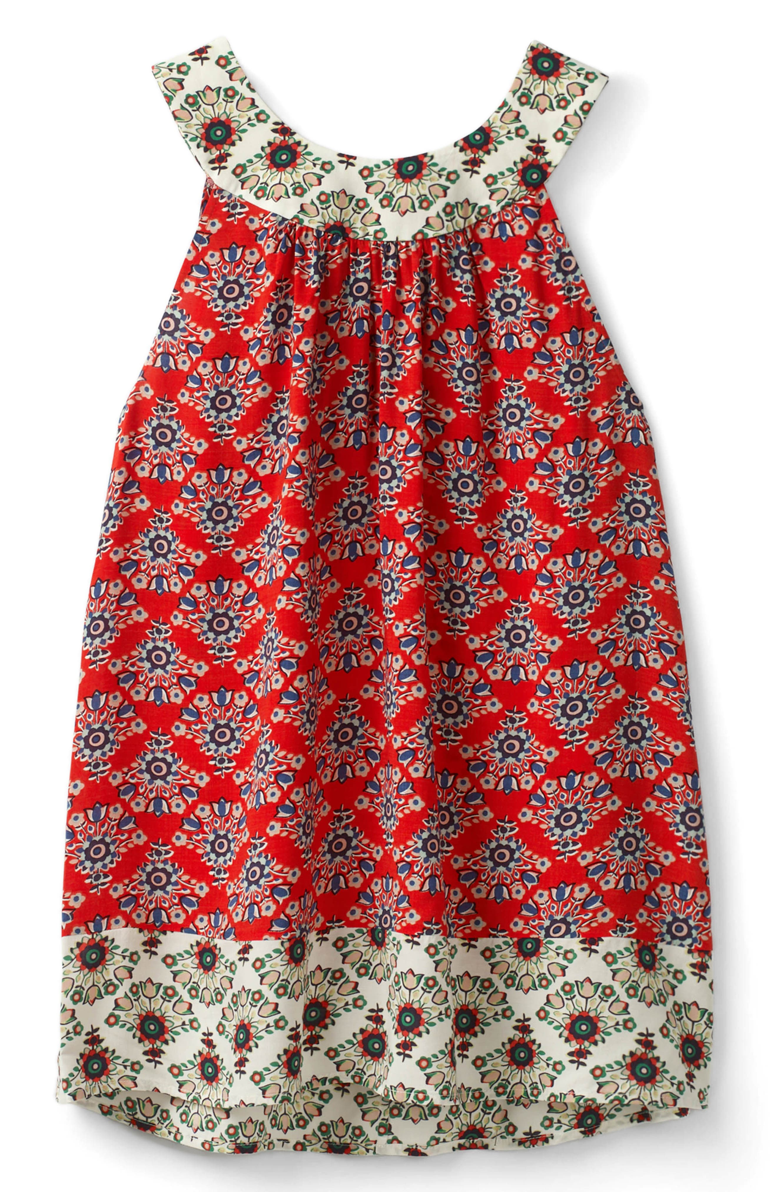 Print Mix Swing Top,                             Alternate thumbnail 7, color,                             Red Pop Floral Bouq